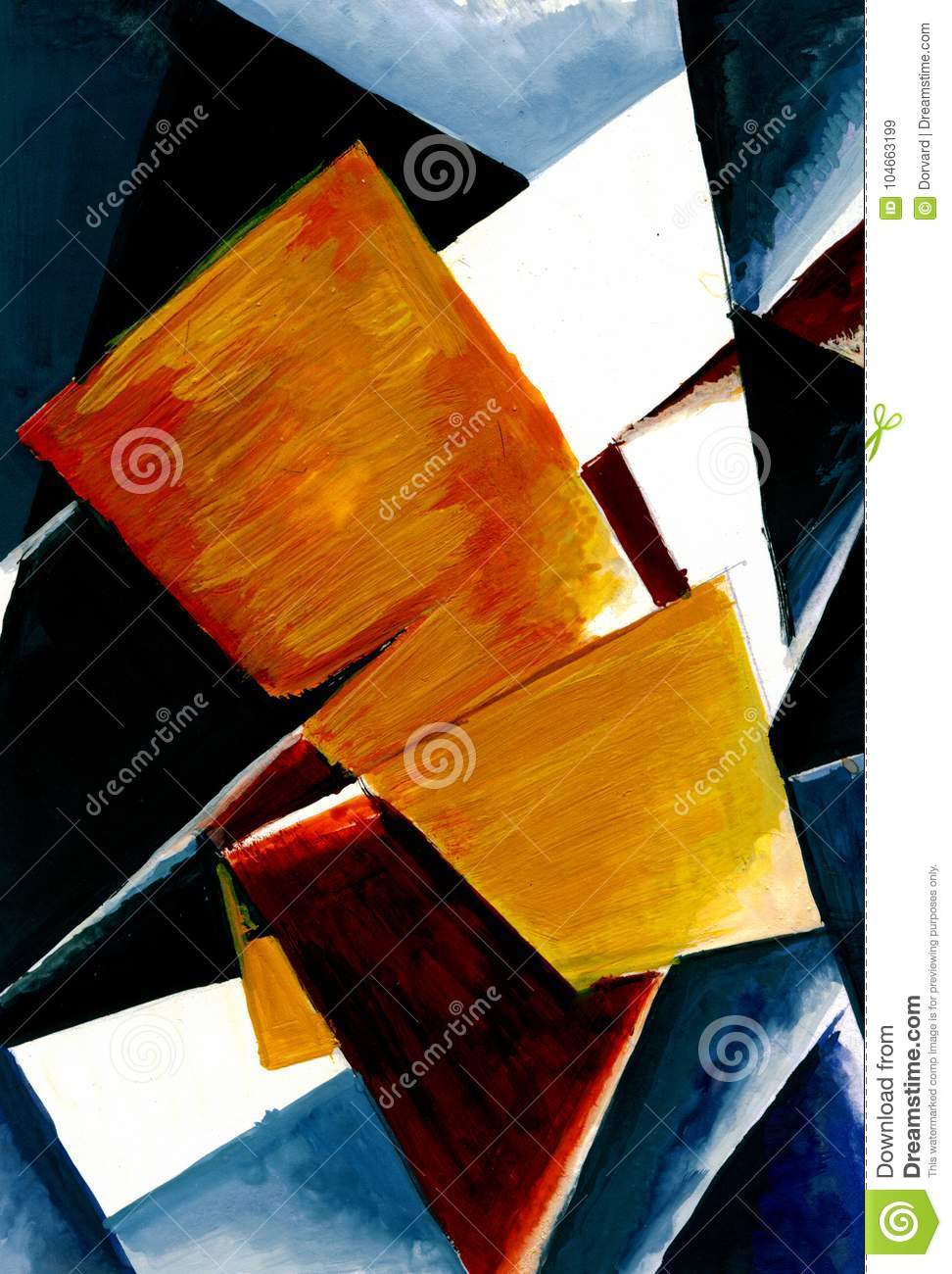 Abstract composition of color planes