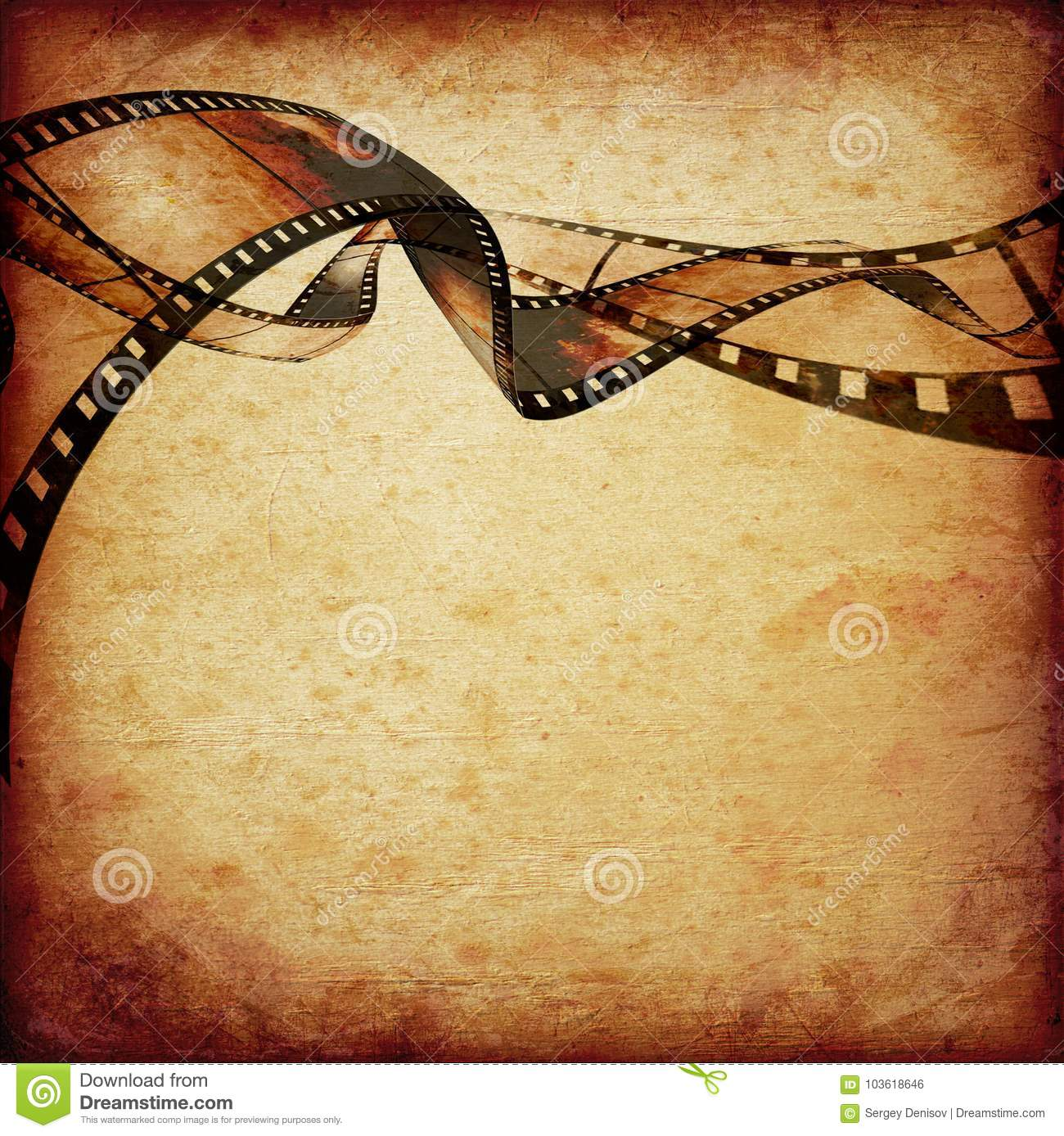 Movie frames or film strip stock illustration. Illustration of ...