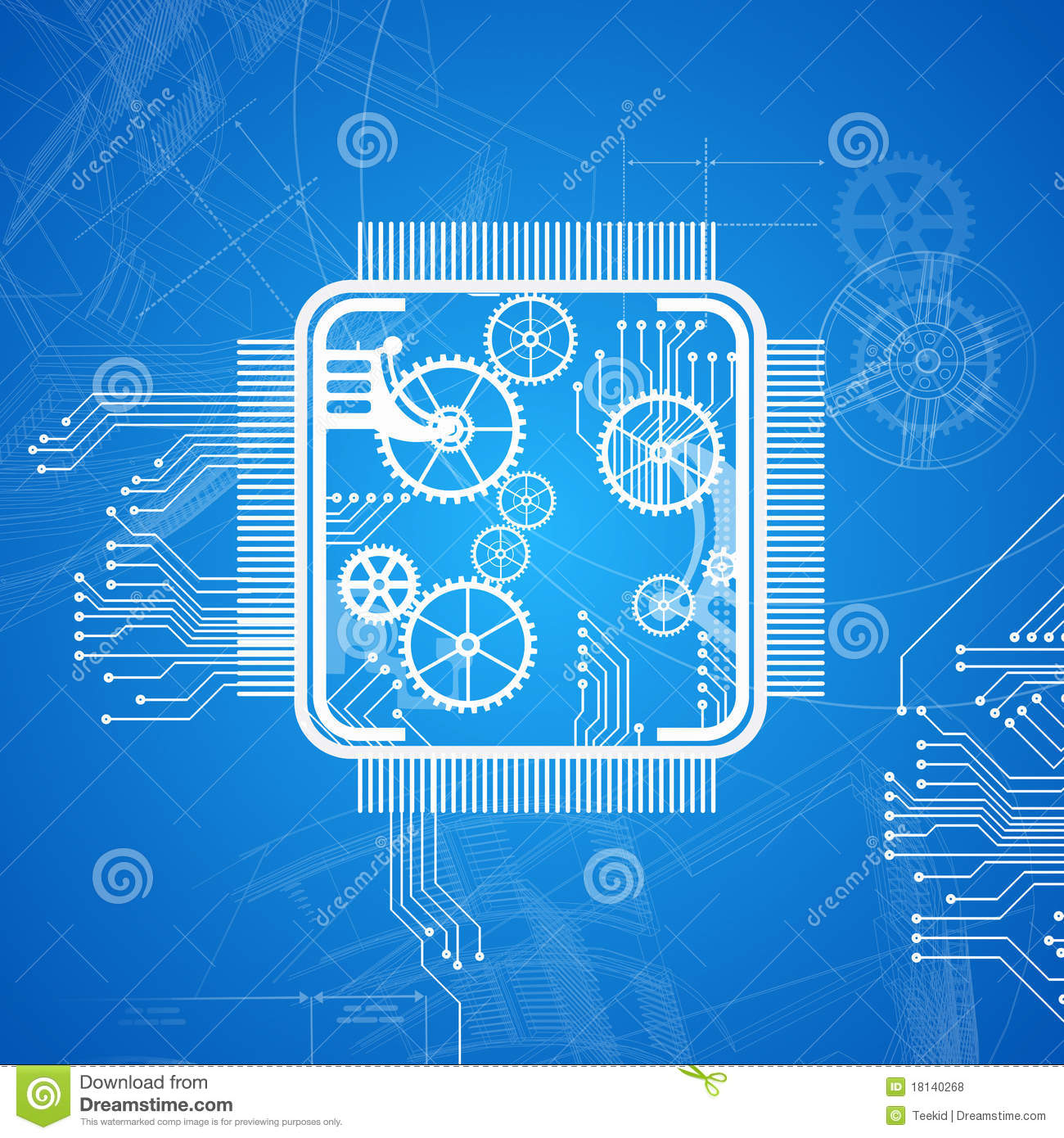 Royalty free stock photos abstract computer chip for Web design blueprints