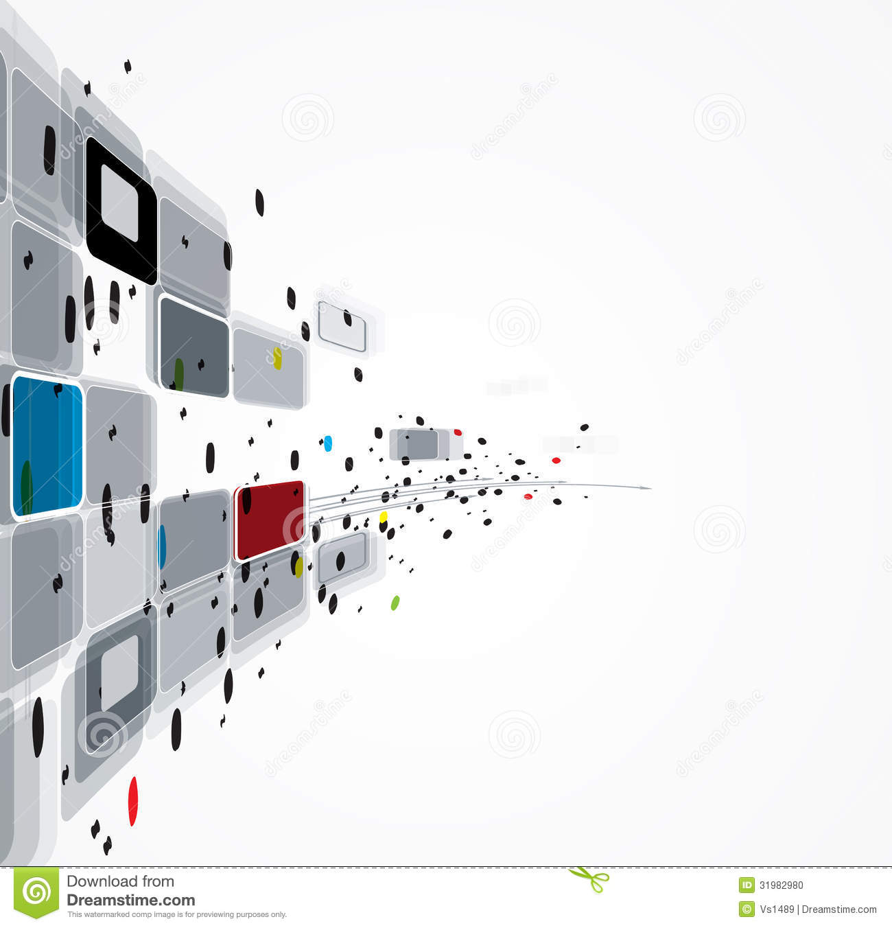 abstract computer technology business solution stock photo