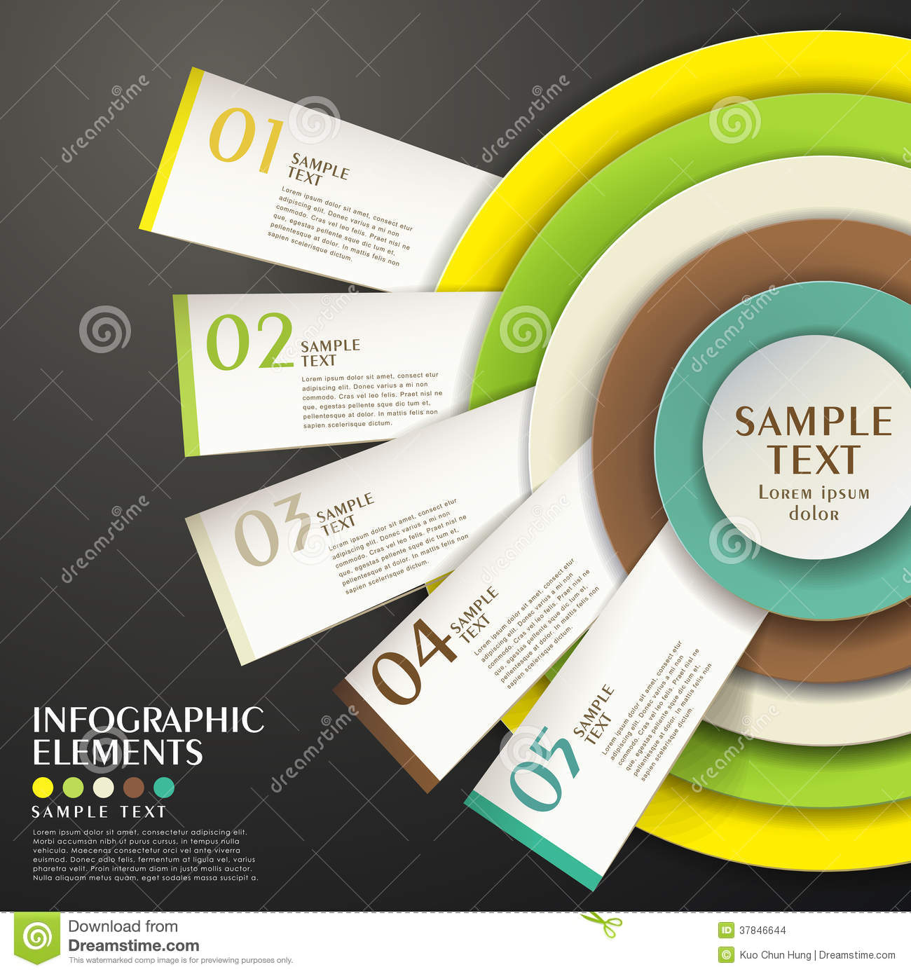Infographic concentric diagram template with 10 options stock abstract concentric chart infographics stock images pooptronica Choice Image