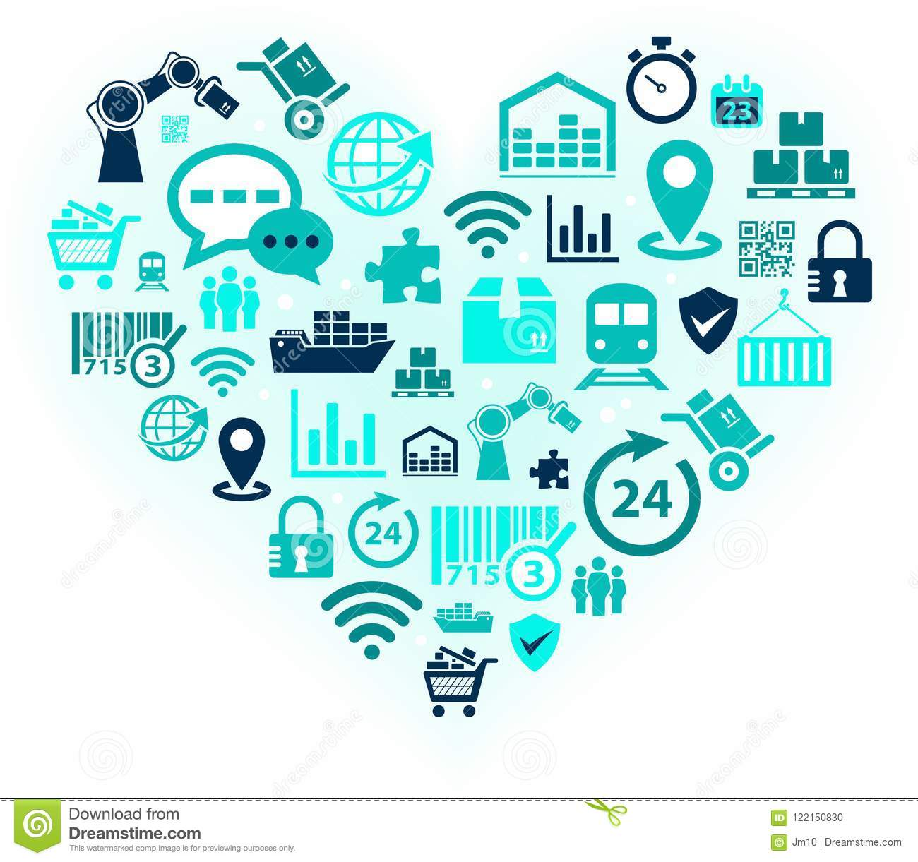 Passion For Logistics Supply Chain Management Illustration Stock