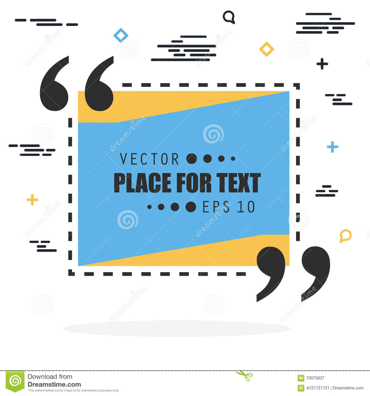 Abstract Concept Vector Empty Speech Square Quote Text Bubble For