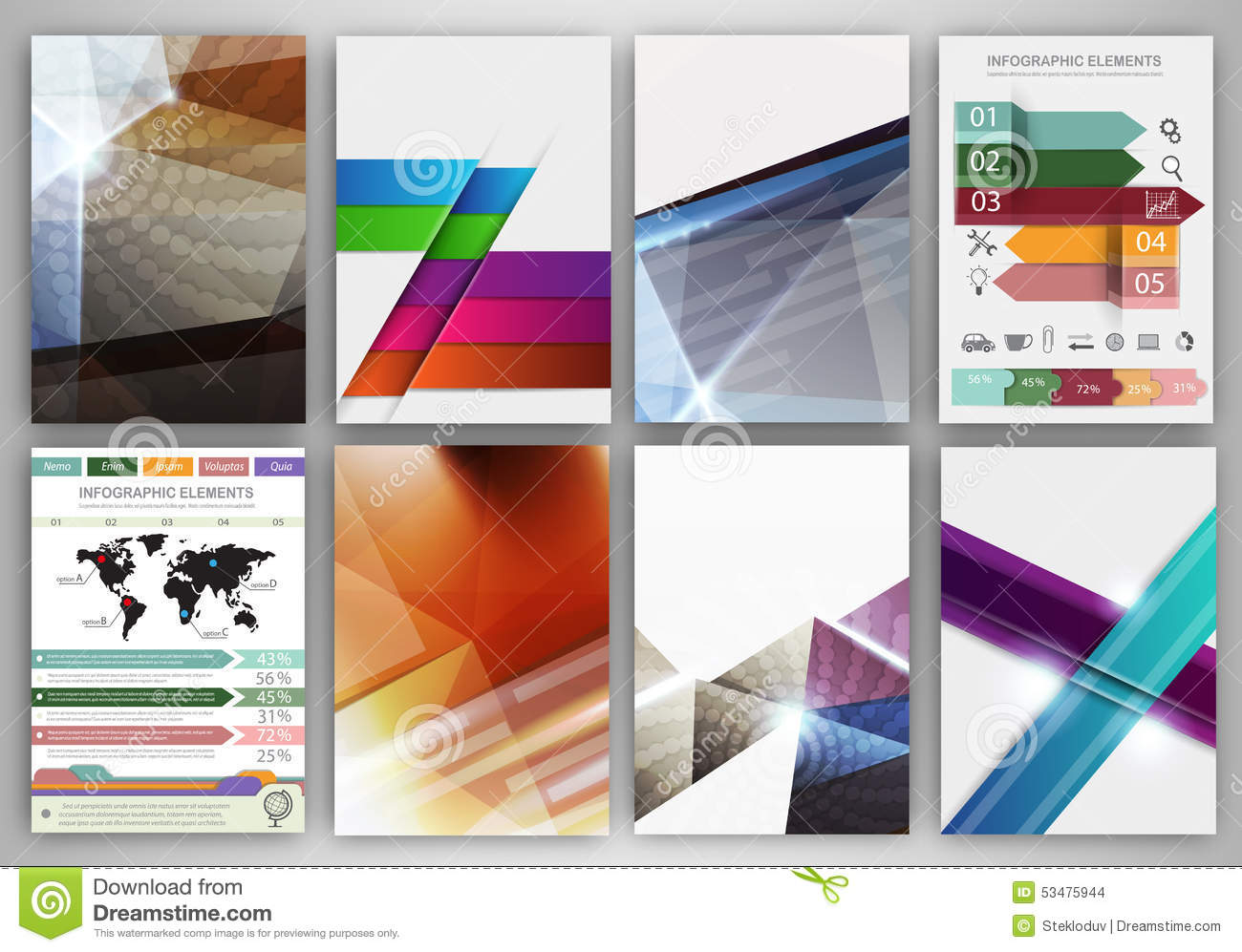 creative brochure templates free download - abstract concept vector icons and creative brochure
