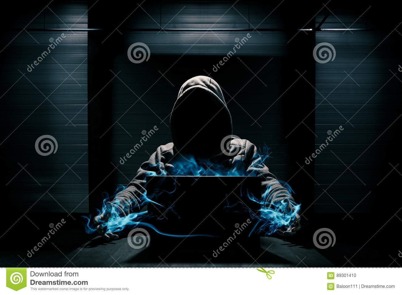 Abstract conception of hacker