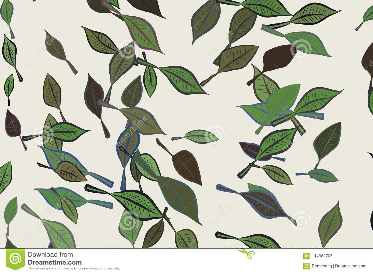 abstract conceptual leaves drawing pattern template creative