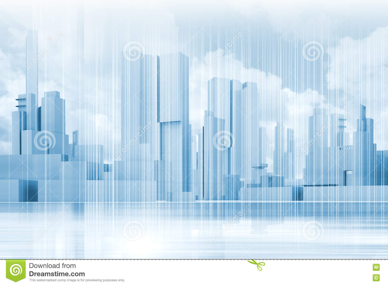 Concept 2 Model D >> Abstract Contemporary Blue City Background Stock ...