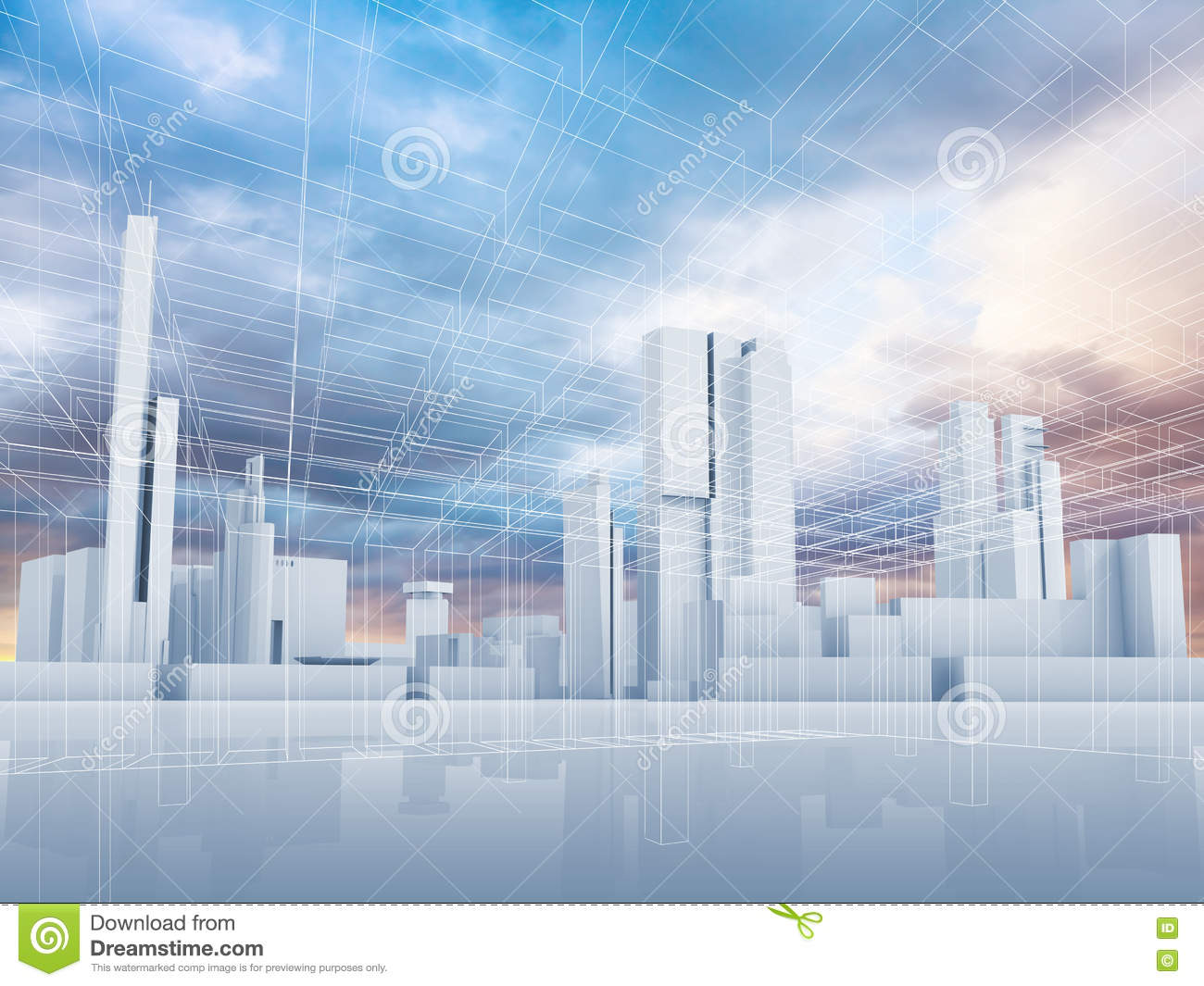 download abstract contemporary city background 3 d stock illustration illustration of illustration dramatic