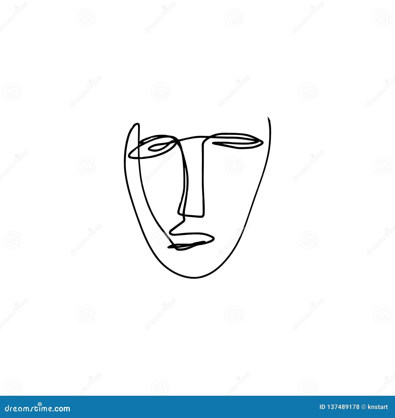 Modern Art Face Drawing