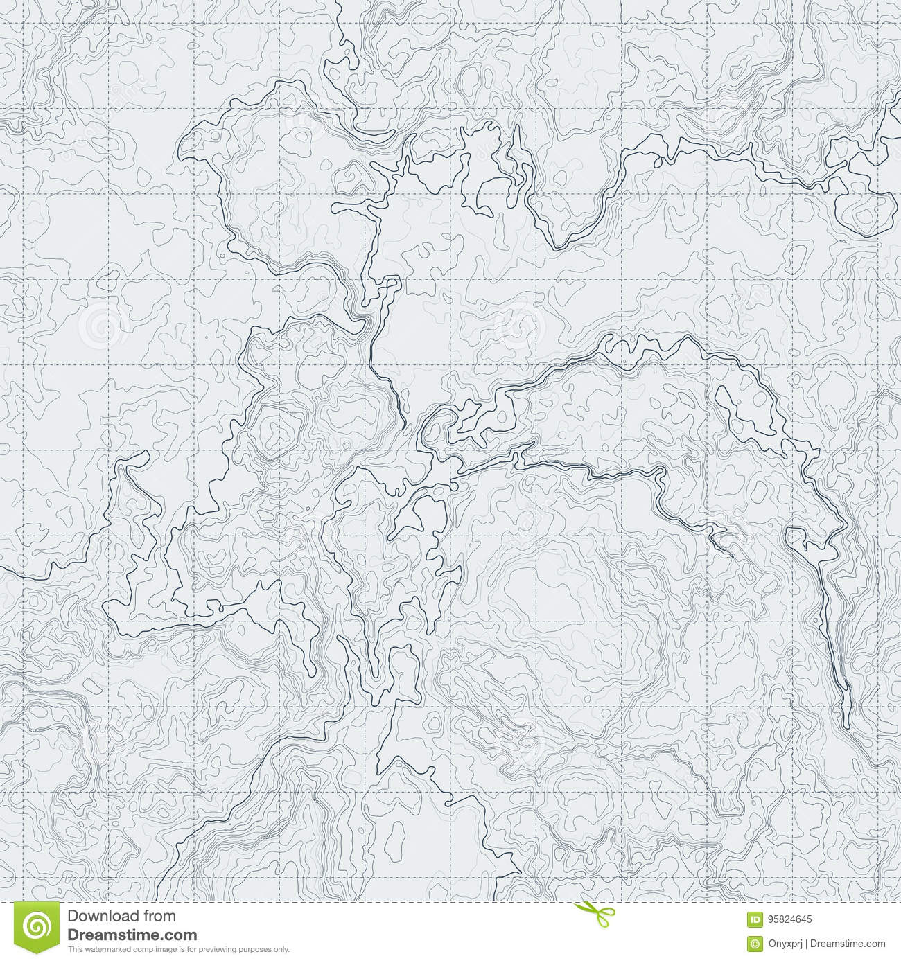 Abstract Contour Map With Different Relief Topographic Vector