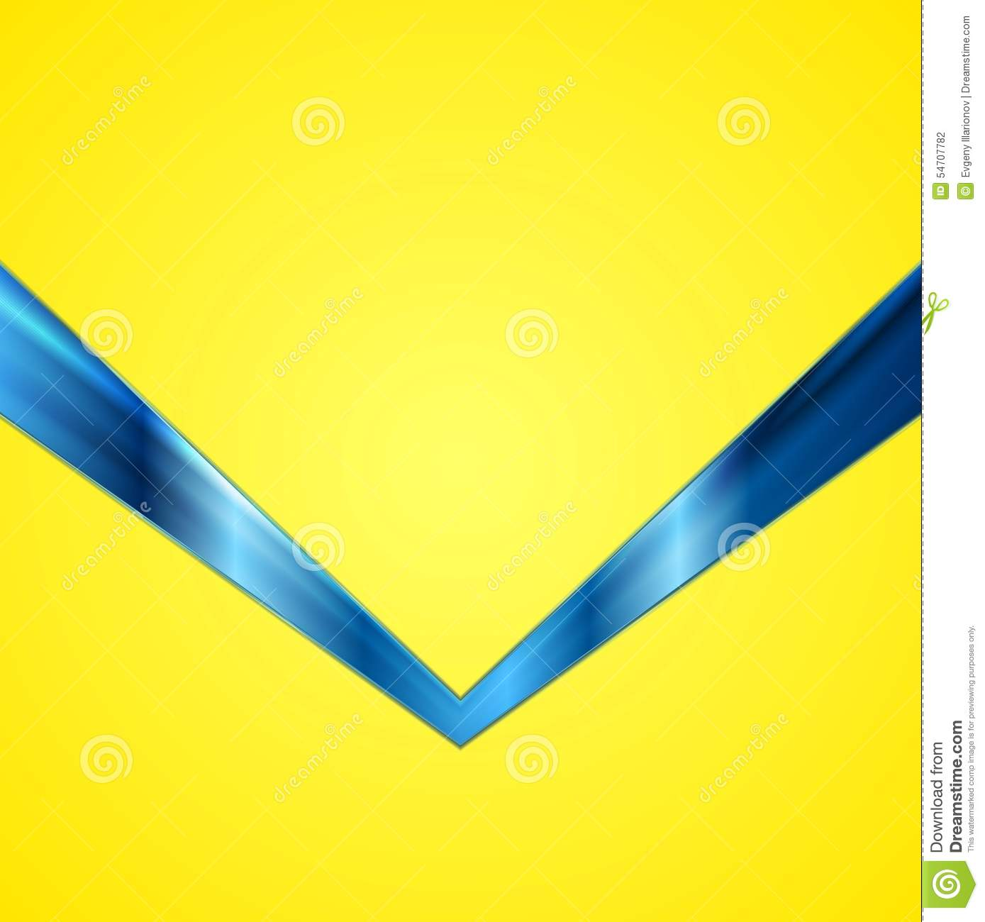 abstract contrast yellow blue tech background stock vector