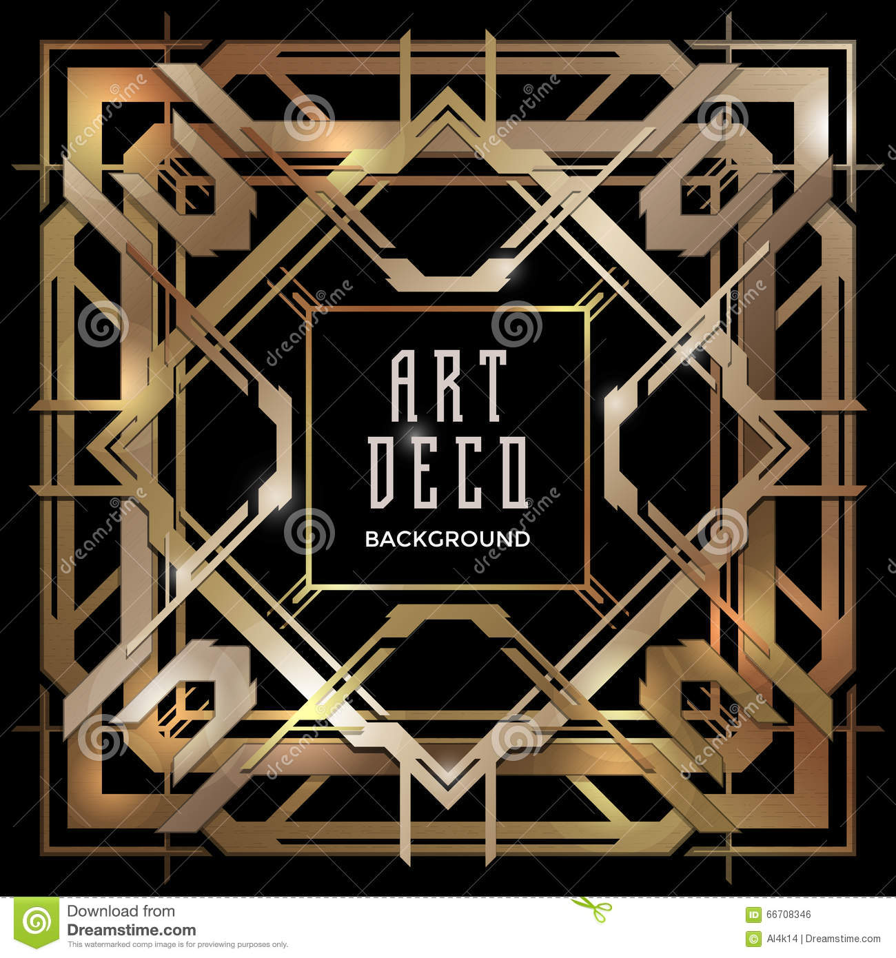abstract copper art deco style background stock vector illustration of luxury geometry 66708346. Black Bedroom Furniture Sets. Home Design Ideas