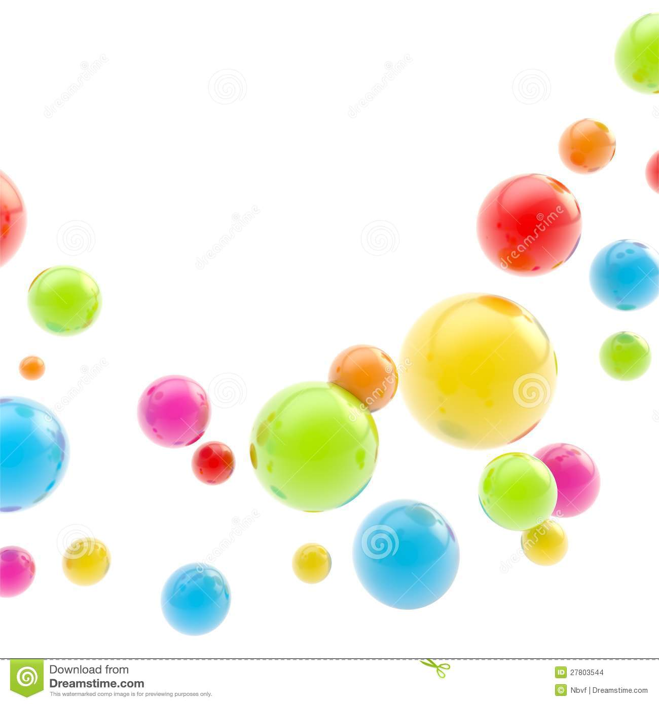 Abstract copyspace backdrop made of glossy spheres