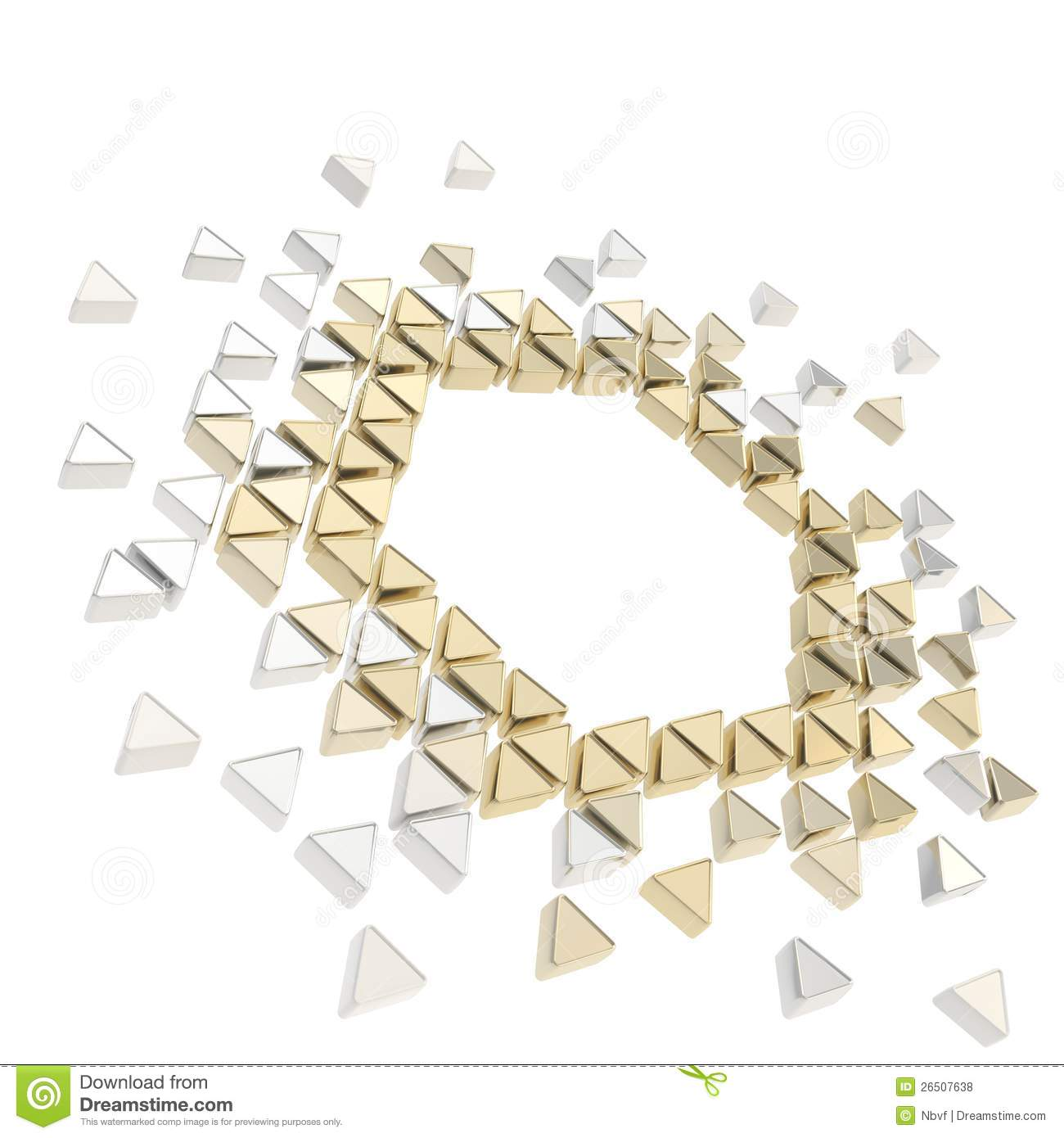 Abstract Copyspace Hexagon Frame Background Stock