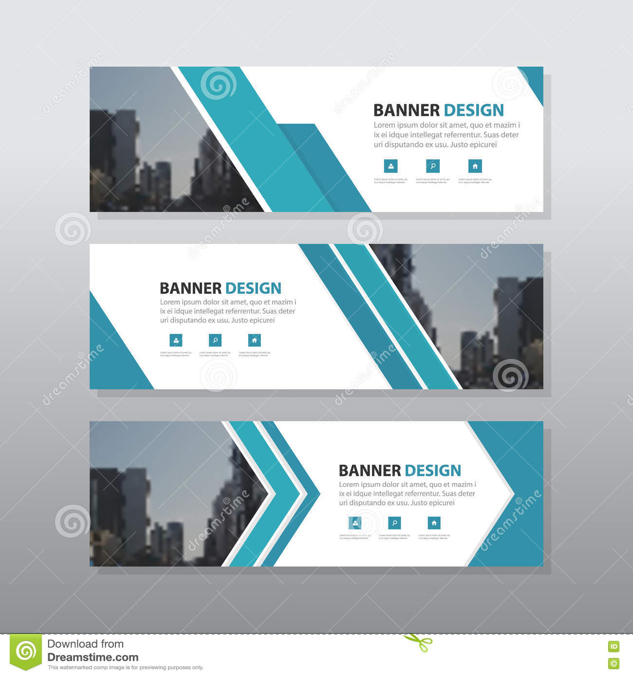 Abstract Corporate Business Banner Template Stock Vector - Image ...