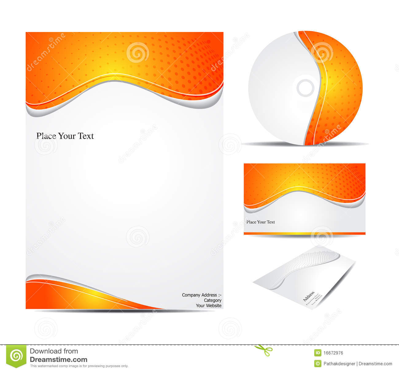 Abstract Corporate Id Template Stock Vector - Illustration of ...