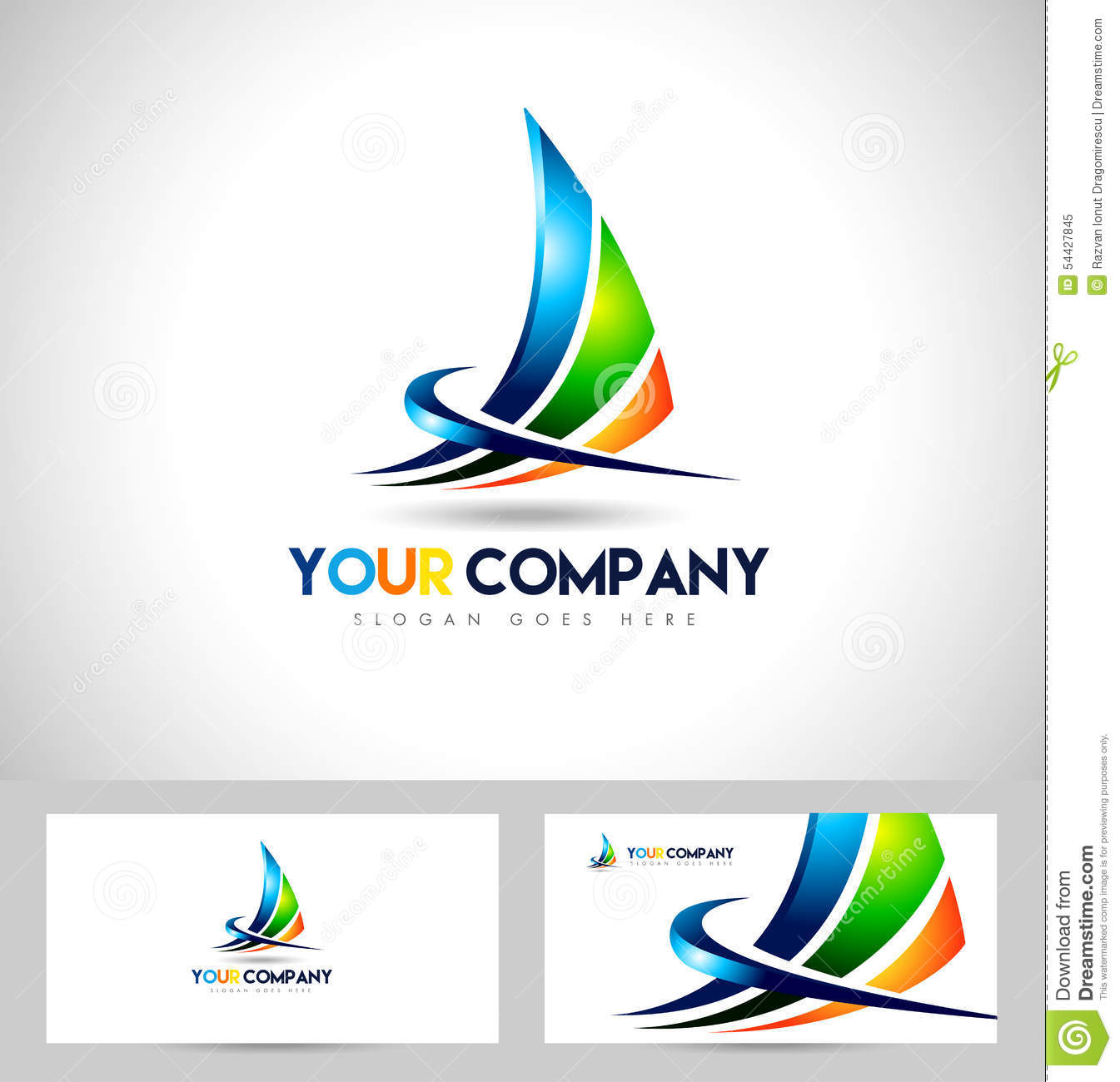 Abstract Corporate Logo Stock Vector Image 54427845