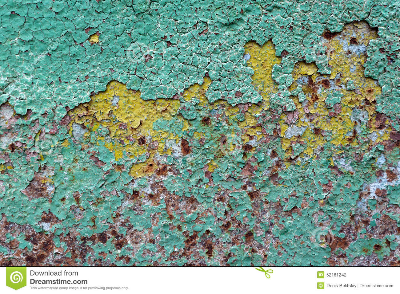 Metal Green Peeling Paint Rust