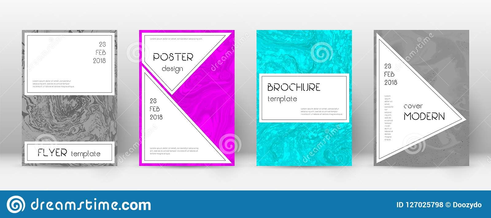 Trendy Poster Designs: Abstract Cover. Bewitching Design Template. Suminagashi