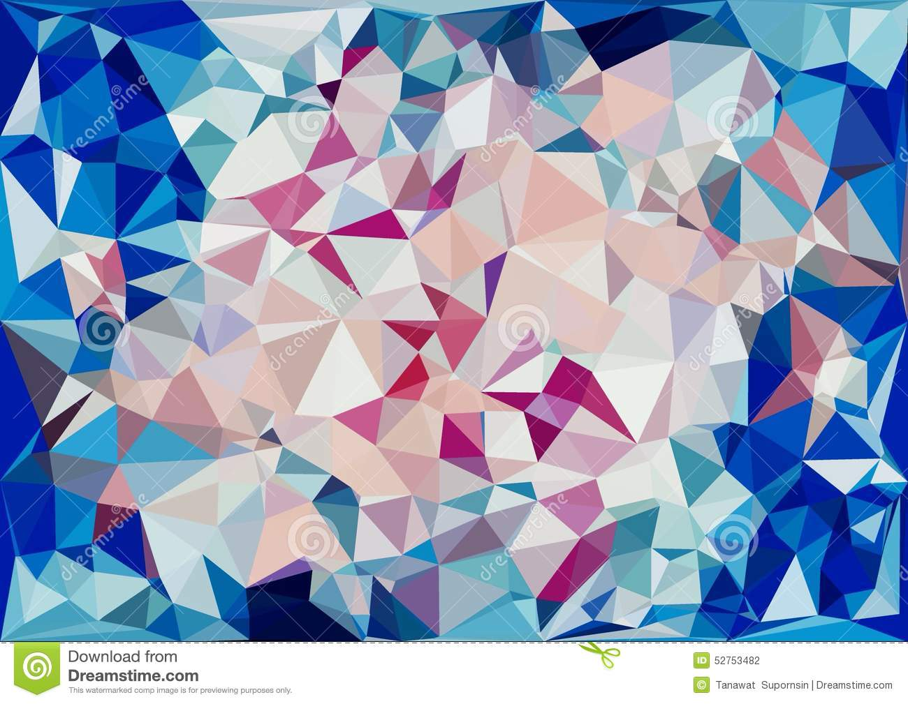 Abstract Cream Pink Blue Color Shiny Low Poly Bokeh Wallpaper