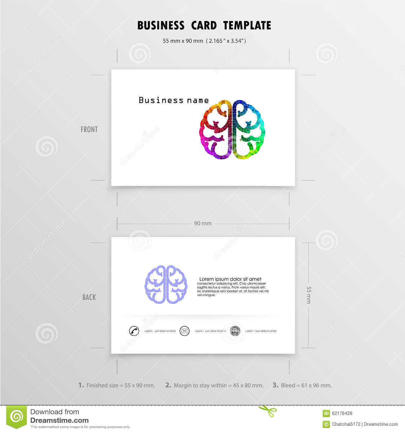 Abstract Creative Business Cards Design Template. Stock Vector ...