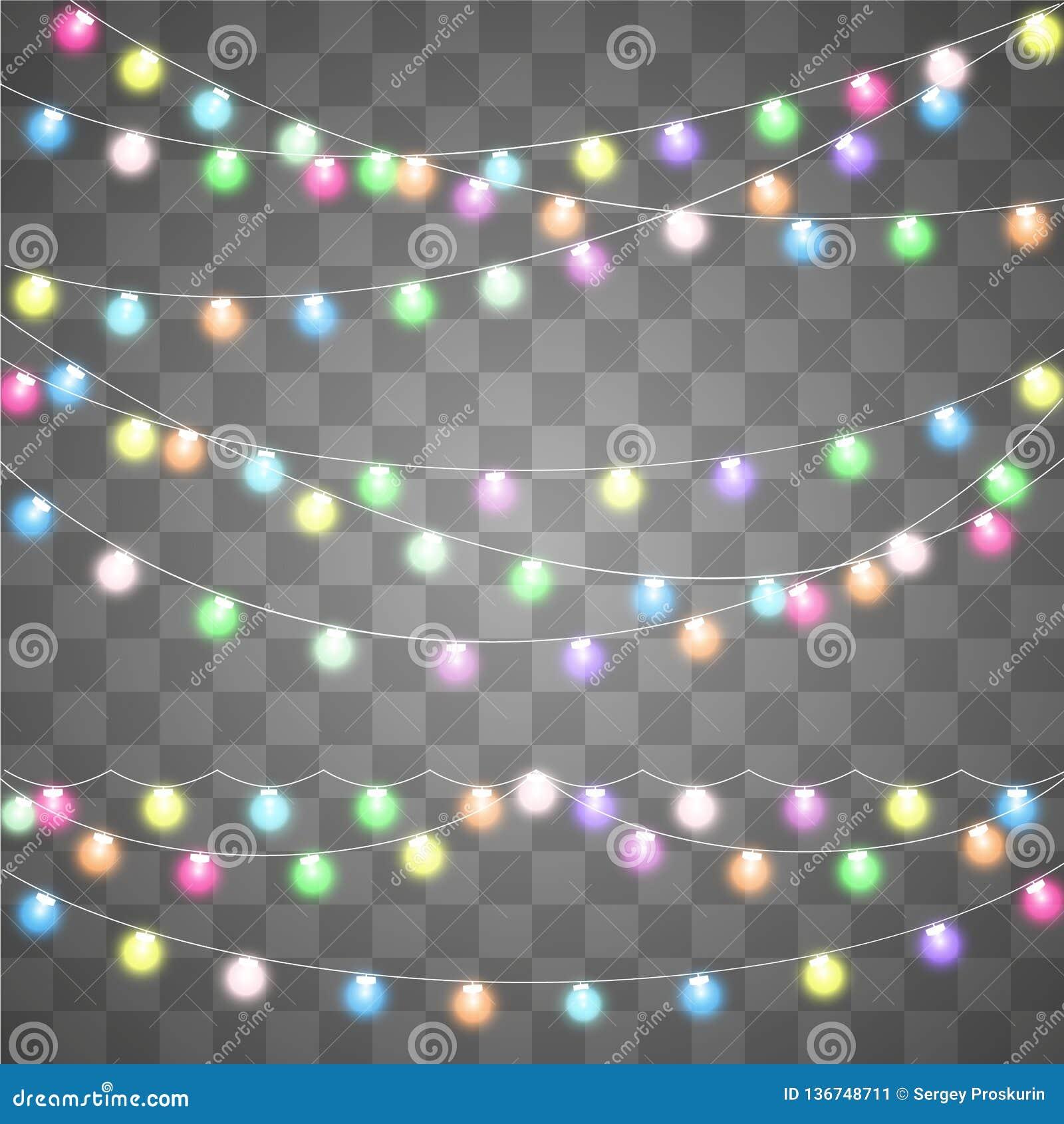 Abstract creative christmas garland light