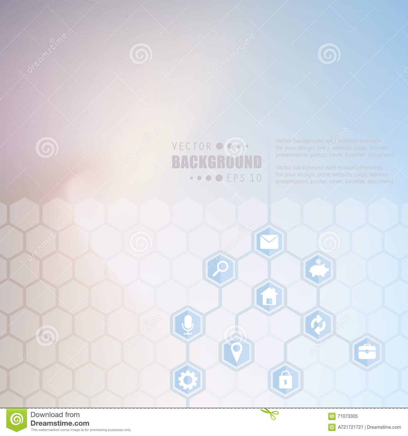 Abstract Creative Concept Vector Hexagon Network With Icon Isolated On Background For Web Mobile App
