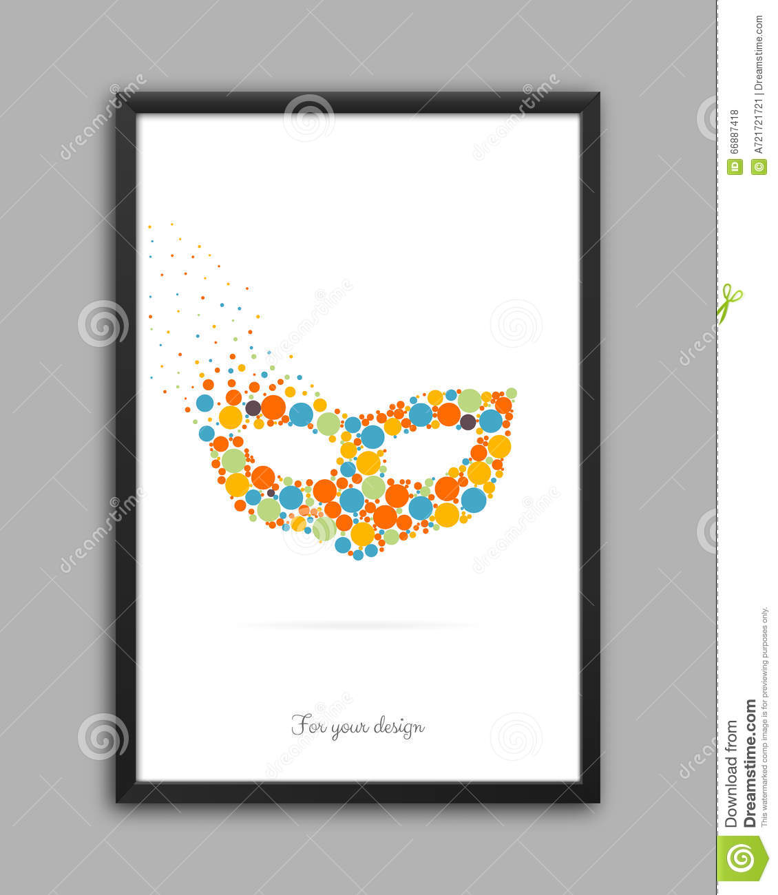 Abstract Creative concept vector logo icon of mask for Web and Mobile Applications isolated on background. Art