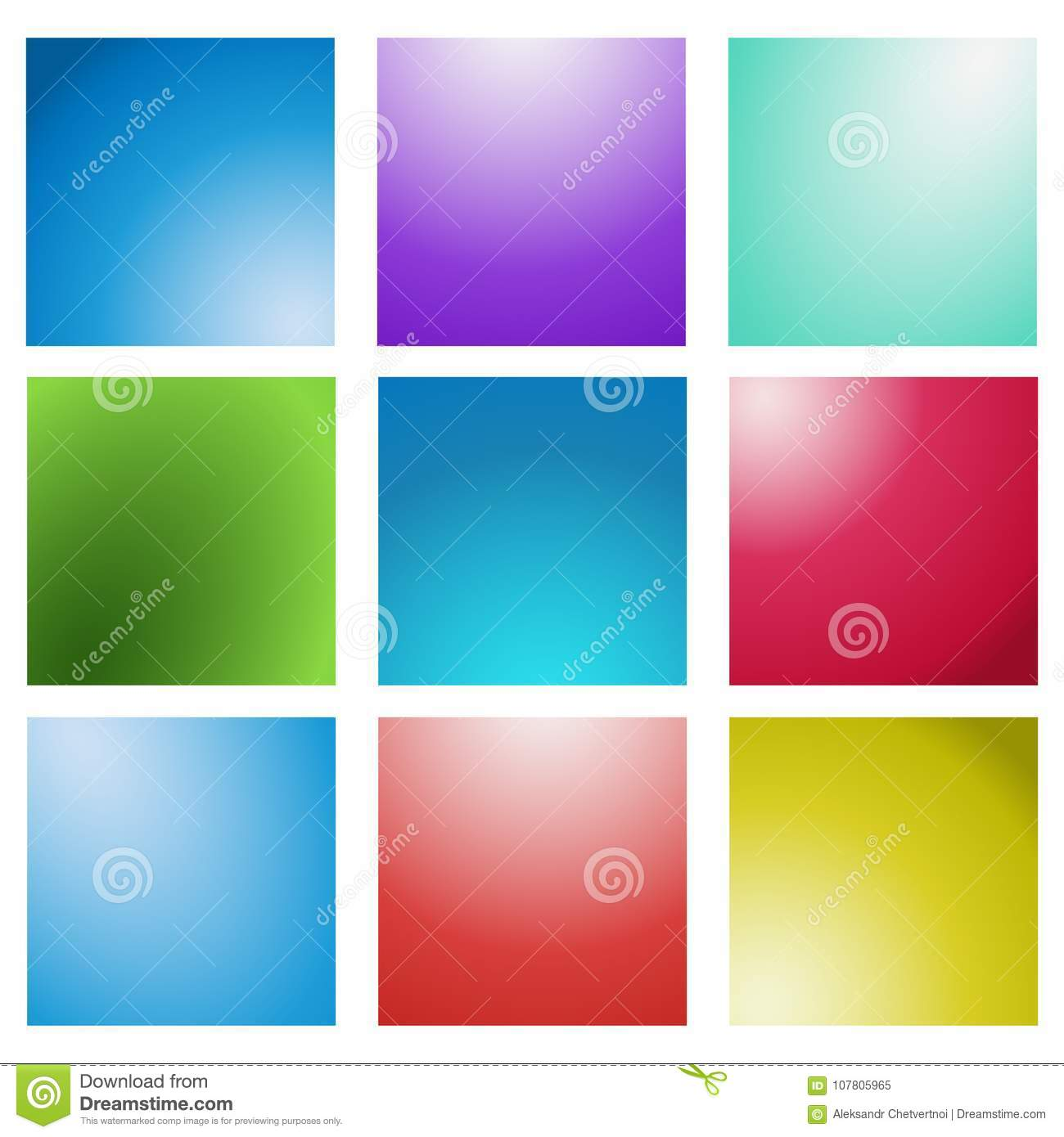 Abstract Creative concept vector multicolored blurred background set. For Web and Mobile Applications