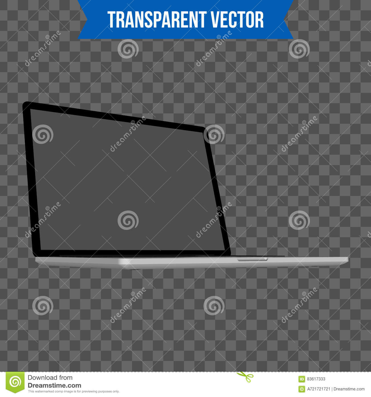 Abstract Creative Laptop. Isolated Mockup On Background. Isometric ...