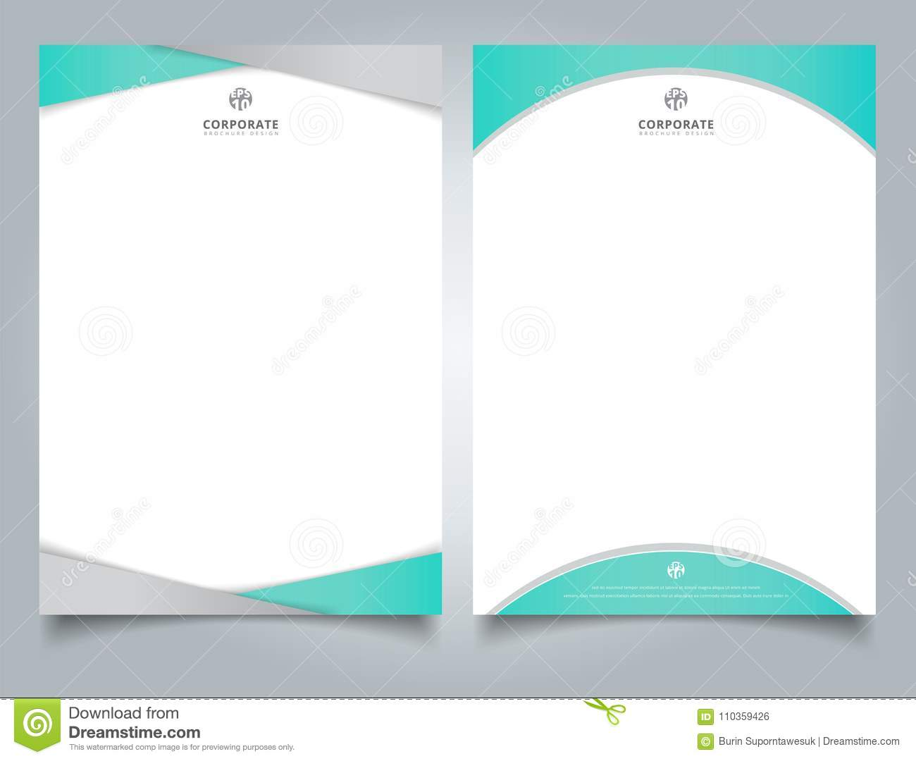 Abstract creative letterhead design template light blue color ge