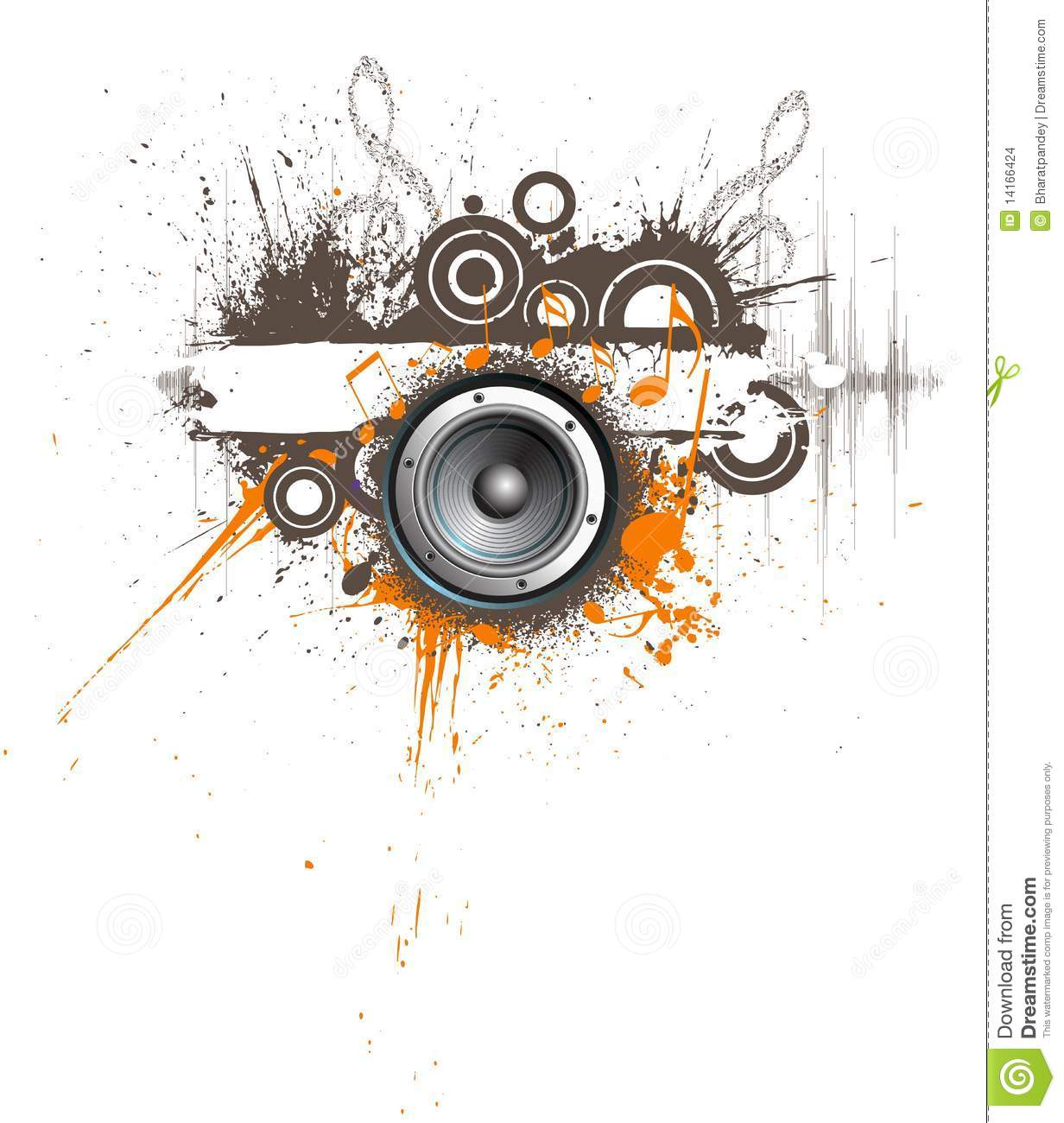 Download Abstract Creative Music Design Stock Vector
