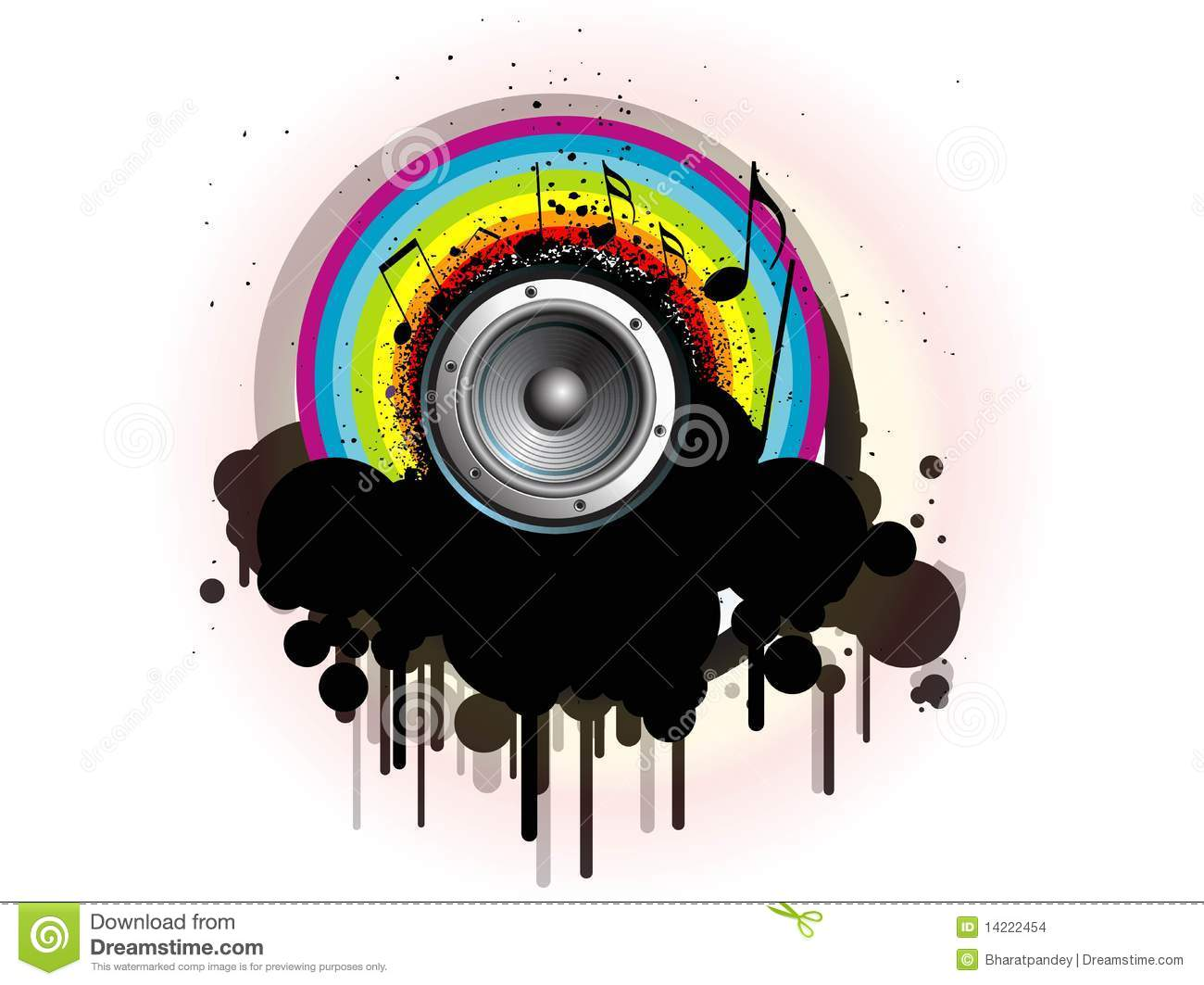 Abstract Creative Music Notes Design Stock Images