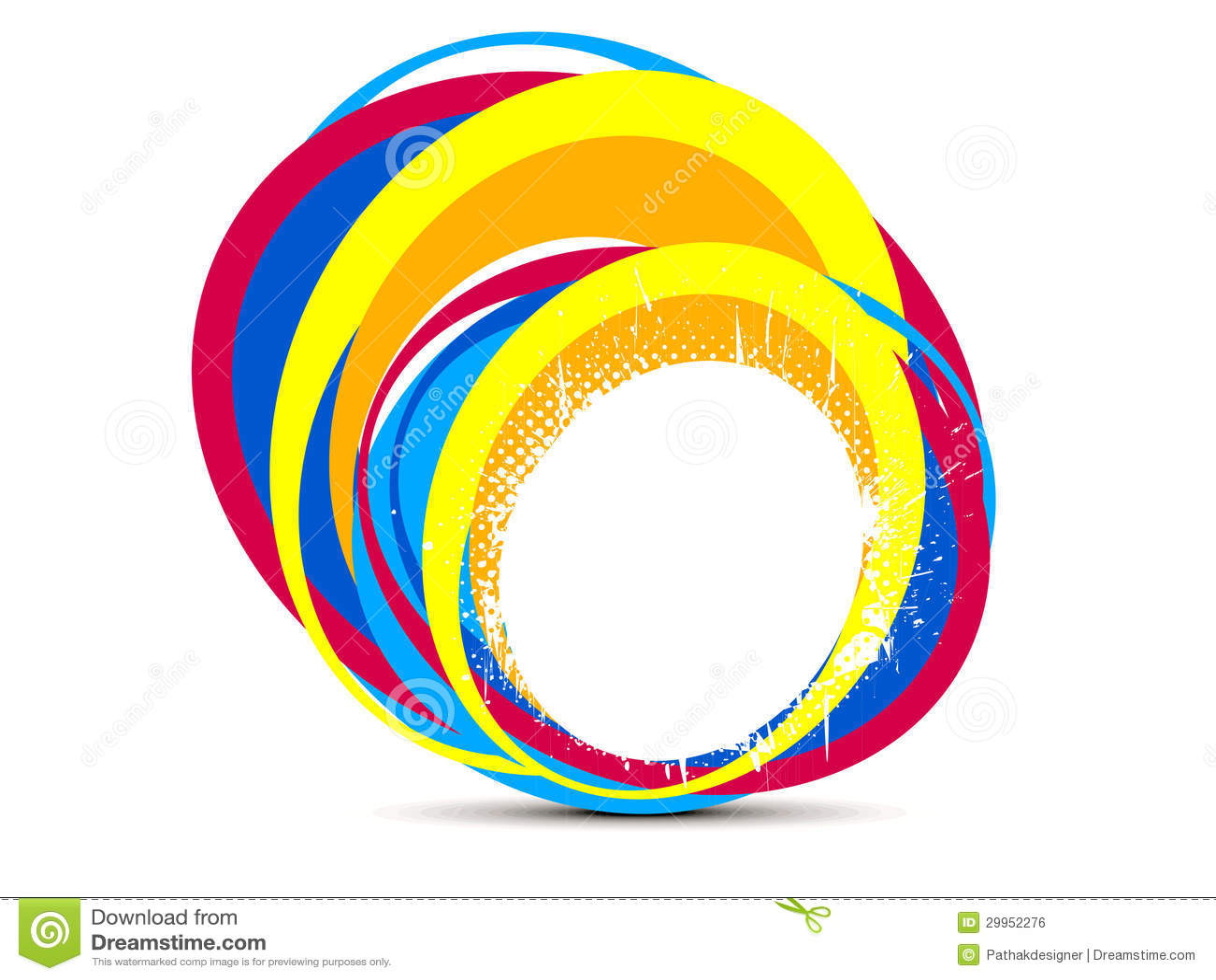 Abstract Creative Rainbow Splash Circle Stock Vector