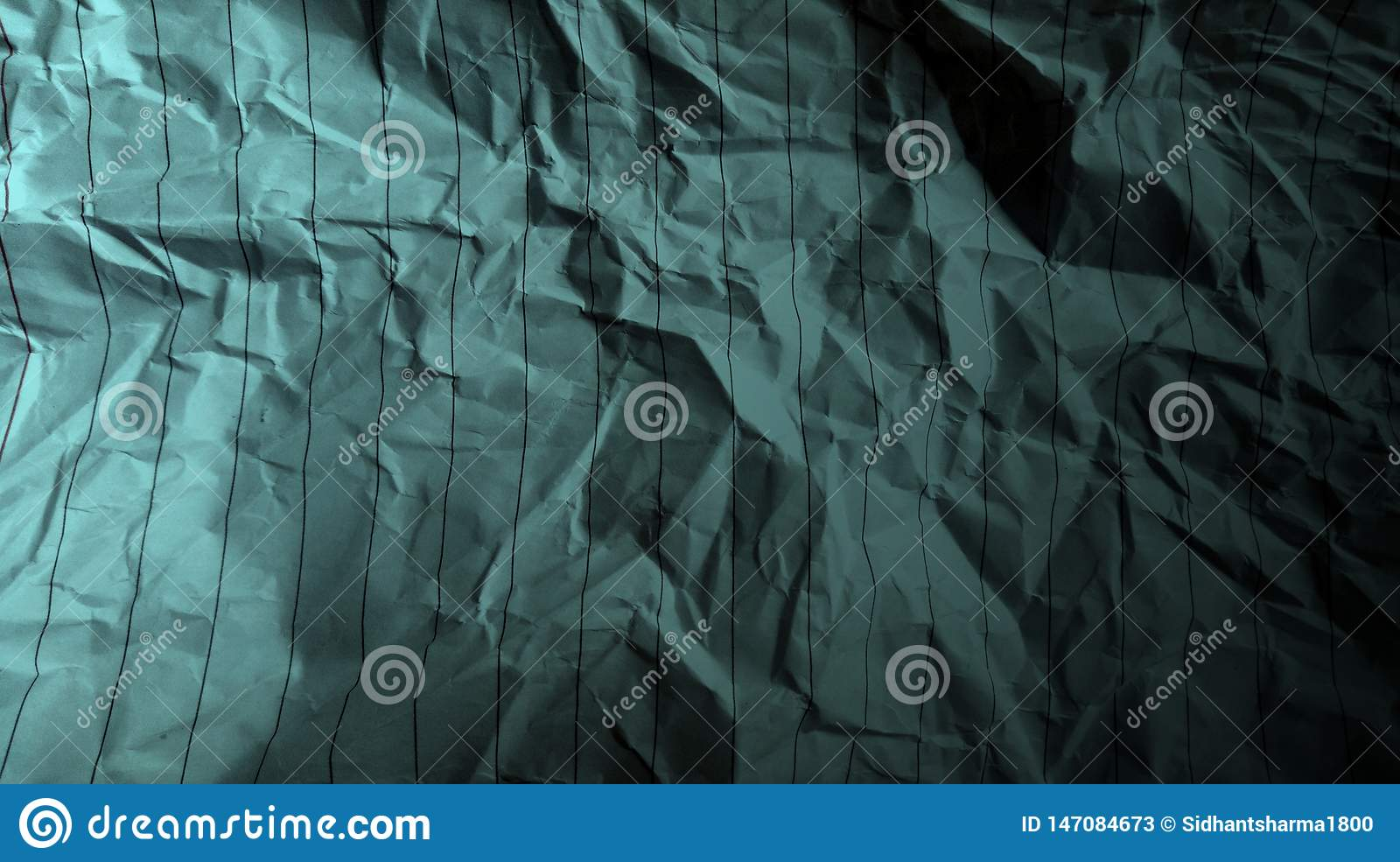 Abstract crumpled paper black ocean green color mixture multi colors effects Background.