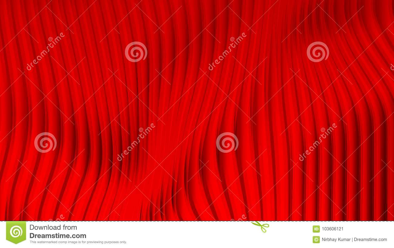 Download Red Curtains Effect Bright Background Stock Vector