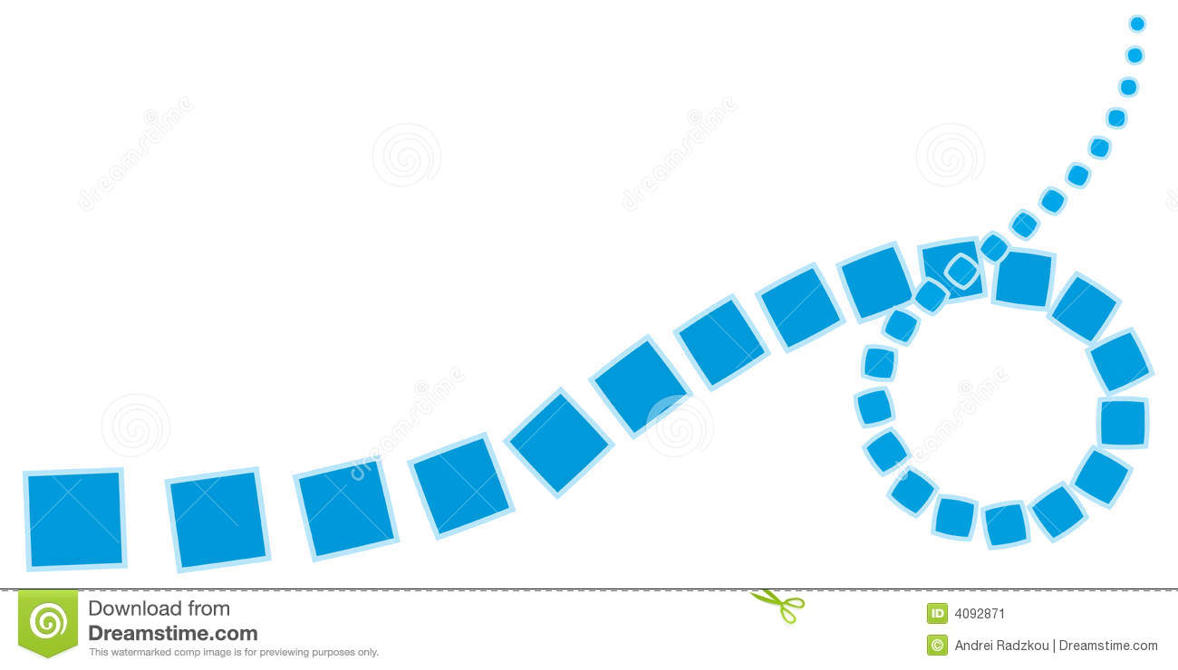 Abstract Curve From Simple Shapes Stock Vector
