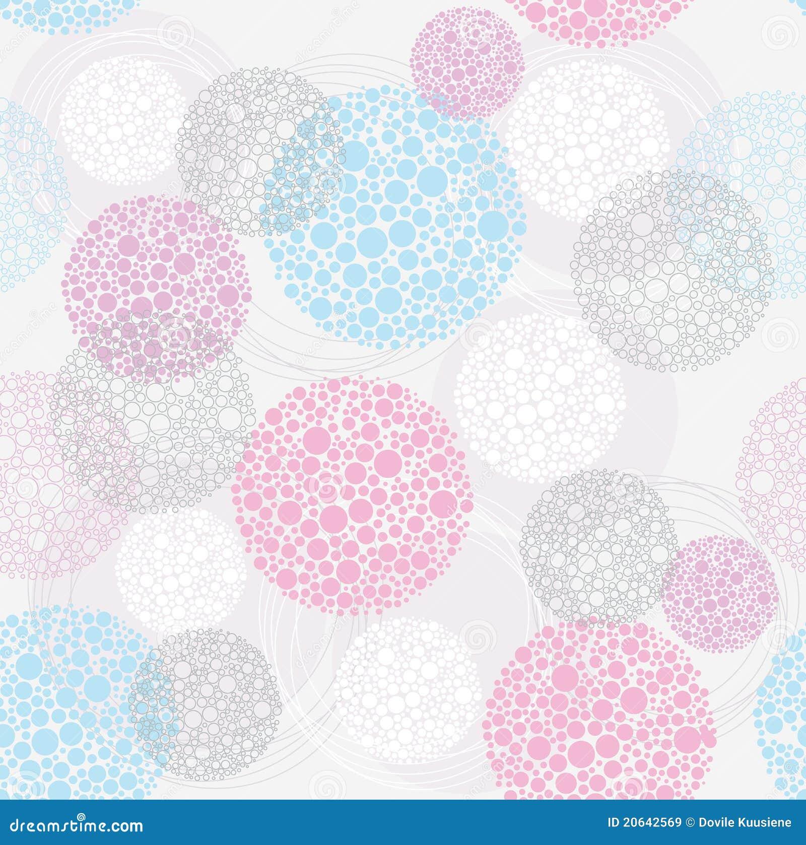 Abstract cute seamless polka dot circle background