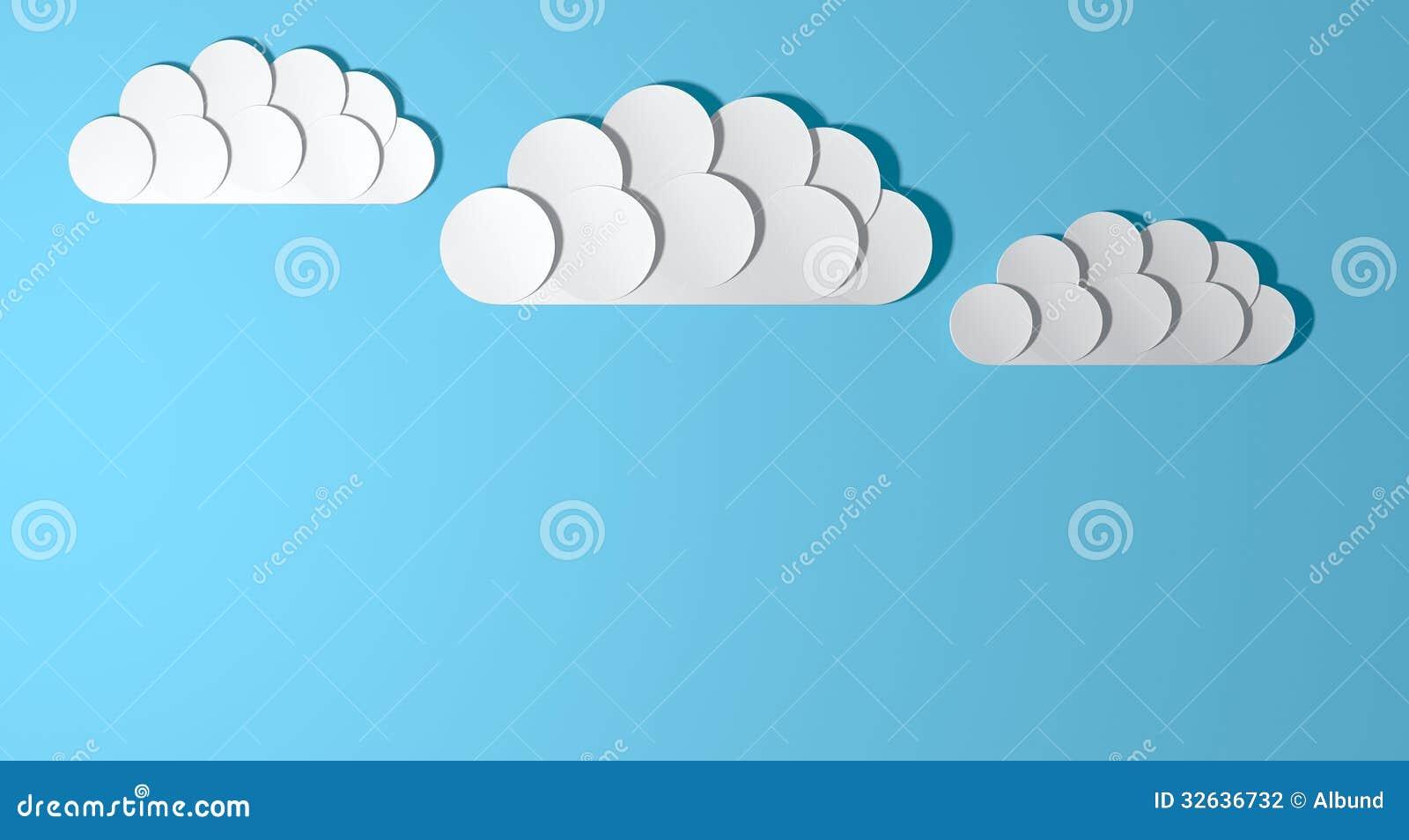 Clouds Craft Paper