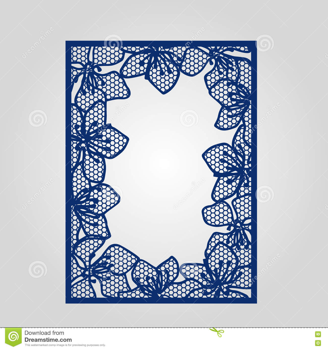 Abstract Cutout Panel For Laser Cutting, Die Cutting Or Stencil ...