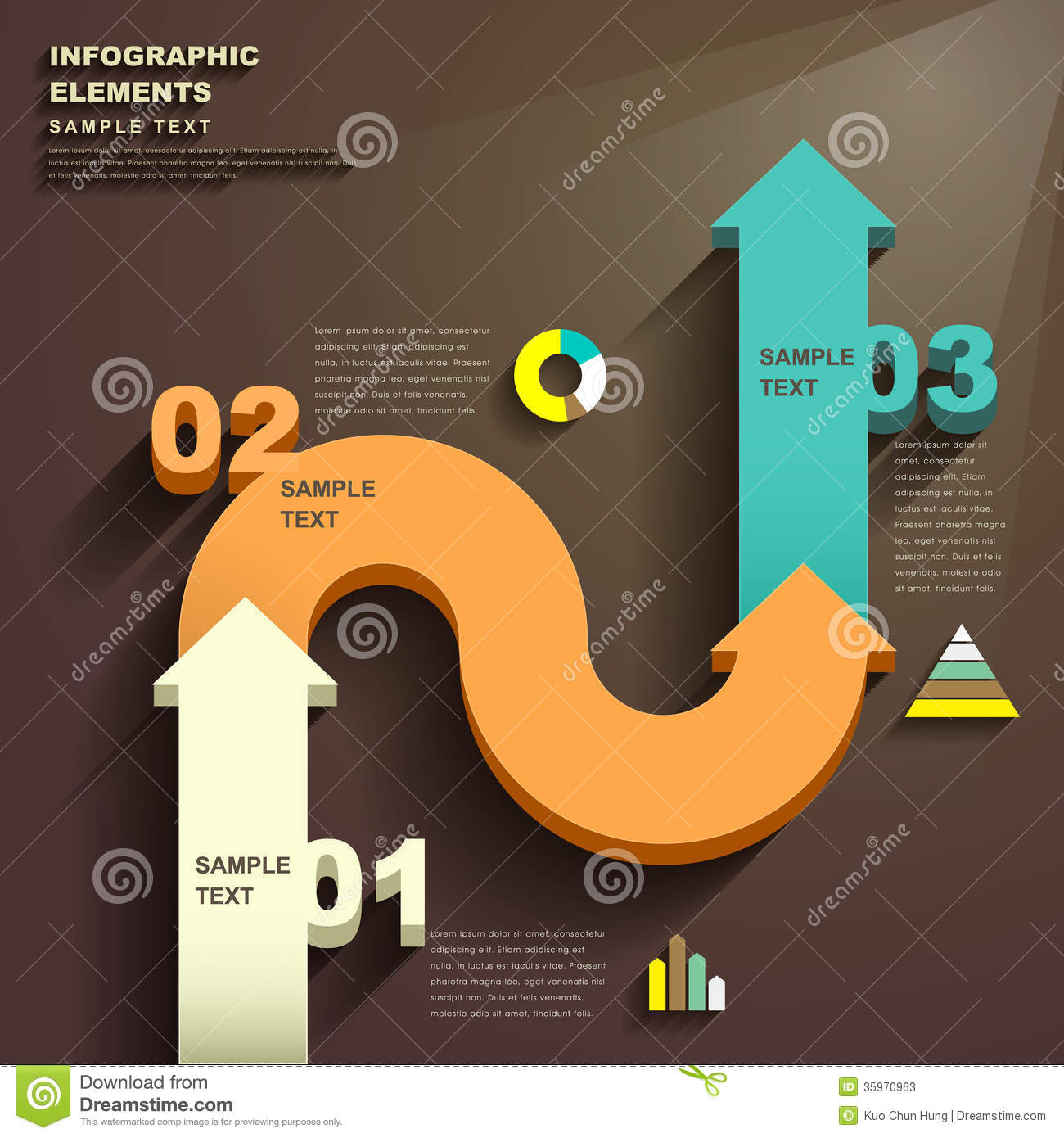 Abstract 3d arrow infographics stock vector image 35970963 for 3d flat design online