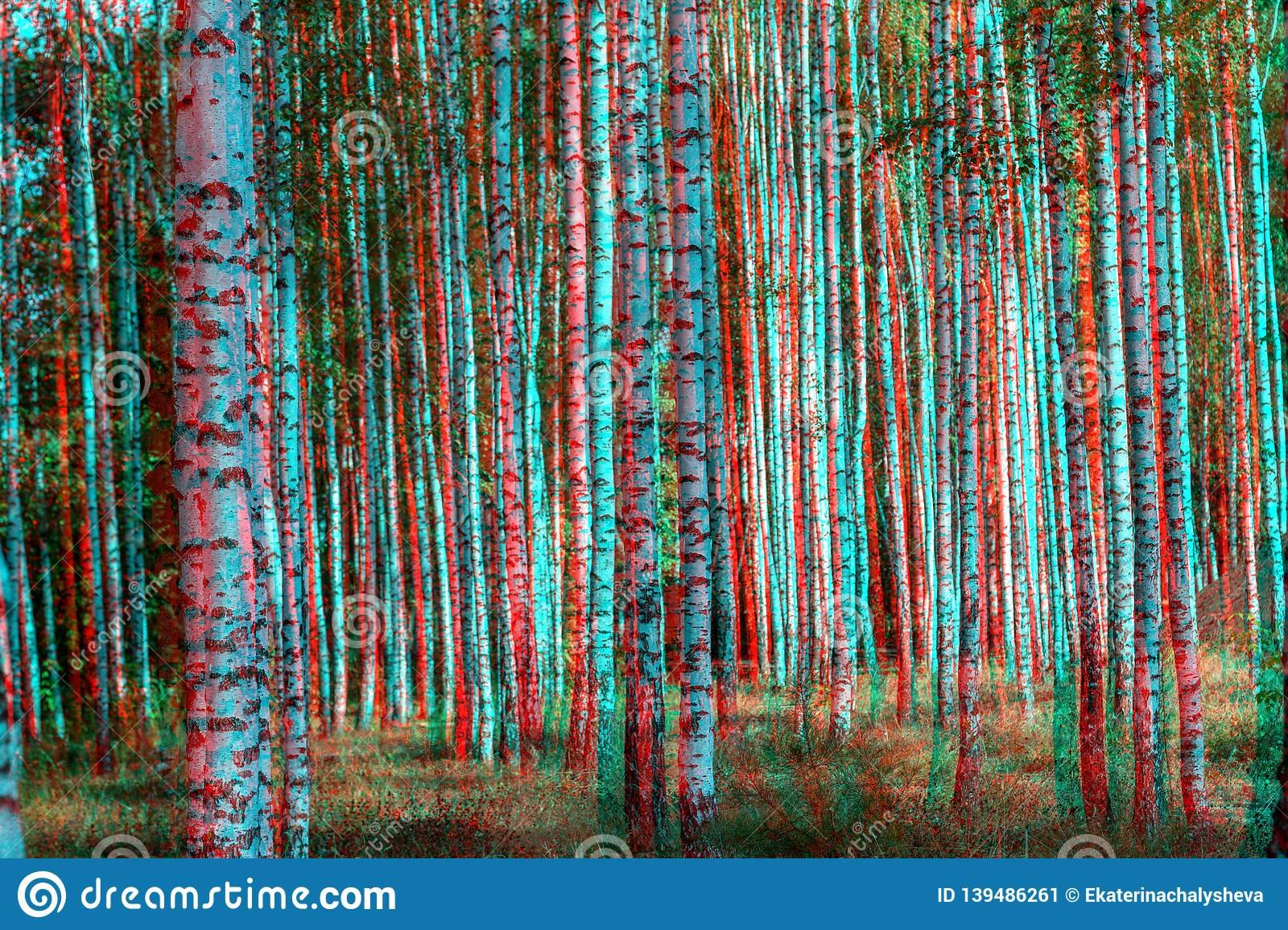 Abstract 3d Nature Background Stock Illustration