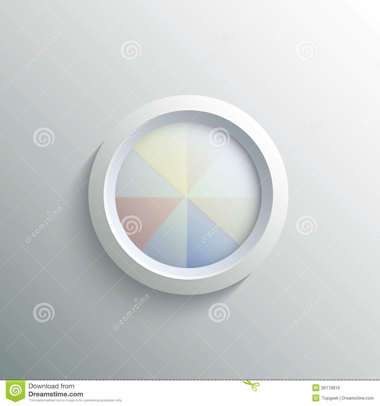Abstract 3d Circle Stock Vector. Illustration Of Button