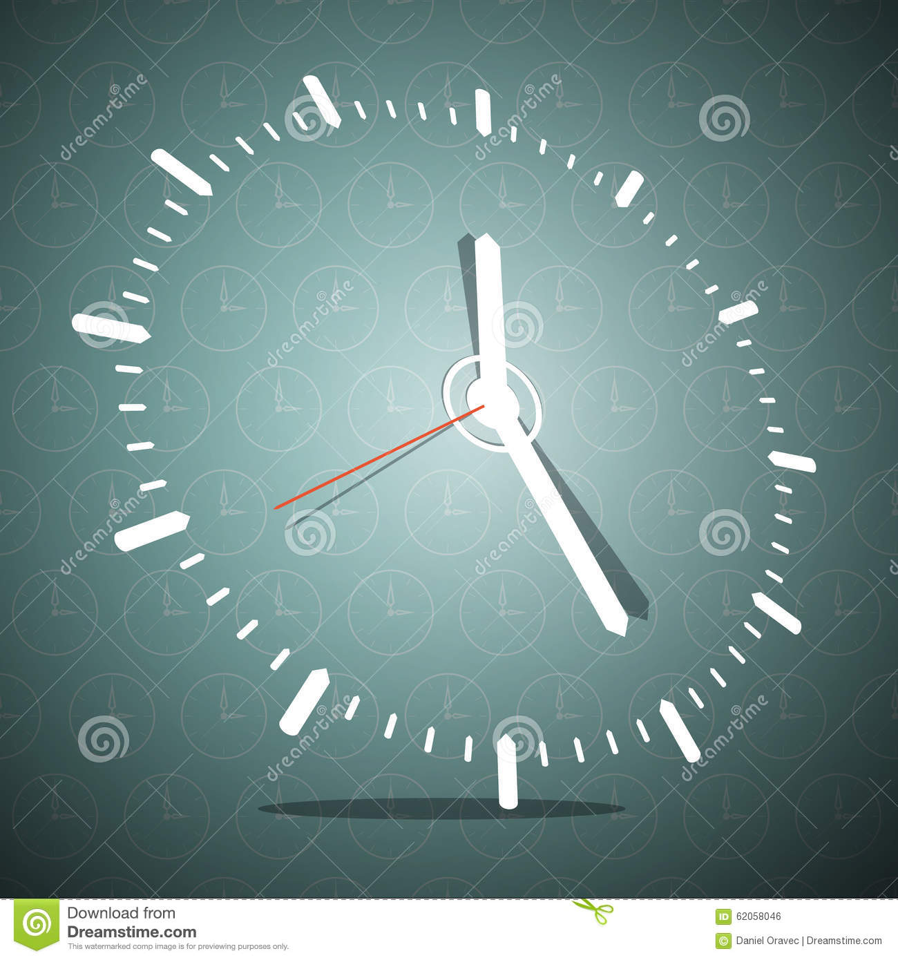 Download Abstract 3D Clock Face Vector Illustration Stock Vector - Illustration of template, blank: 62058046
