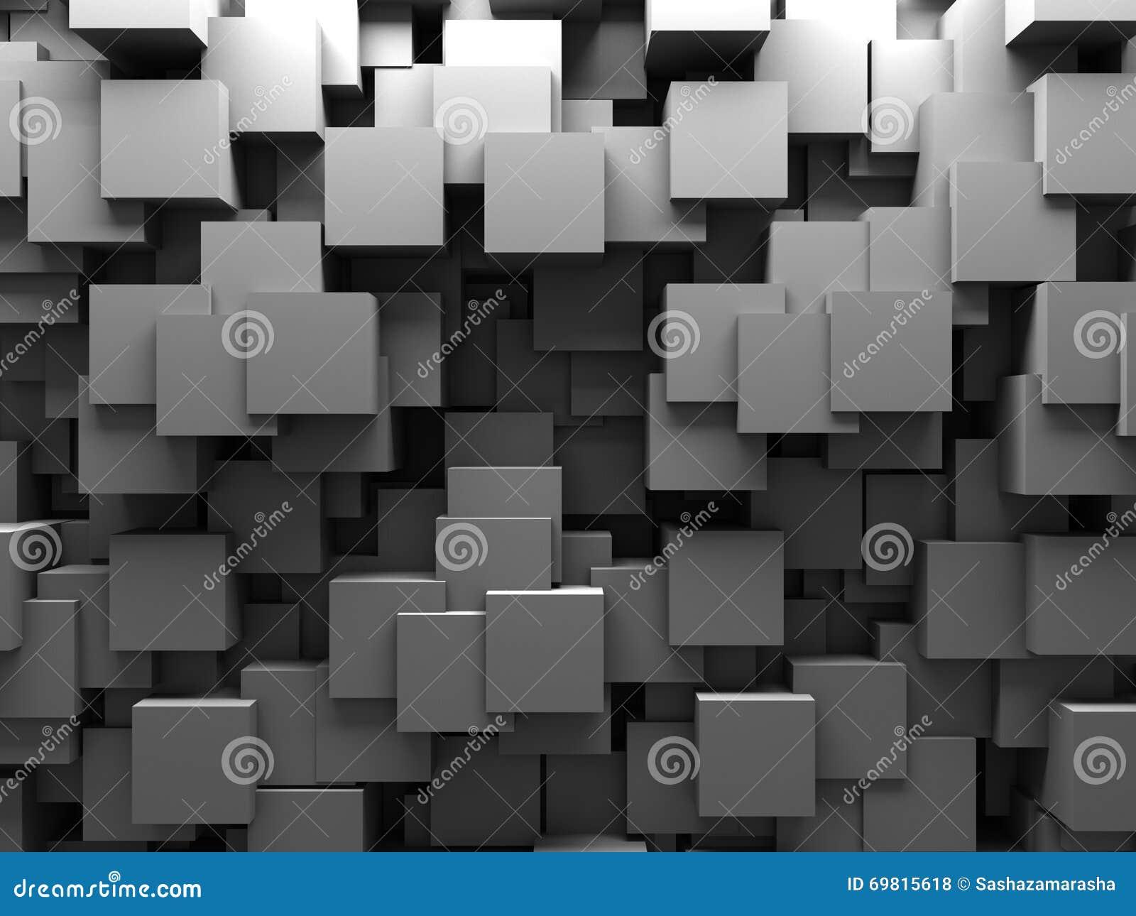 Abstract 3d Cubes Blocks Wallpaper Background Stock Illustration
