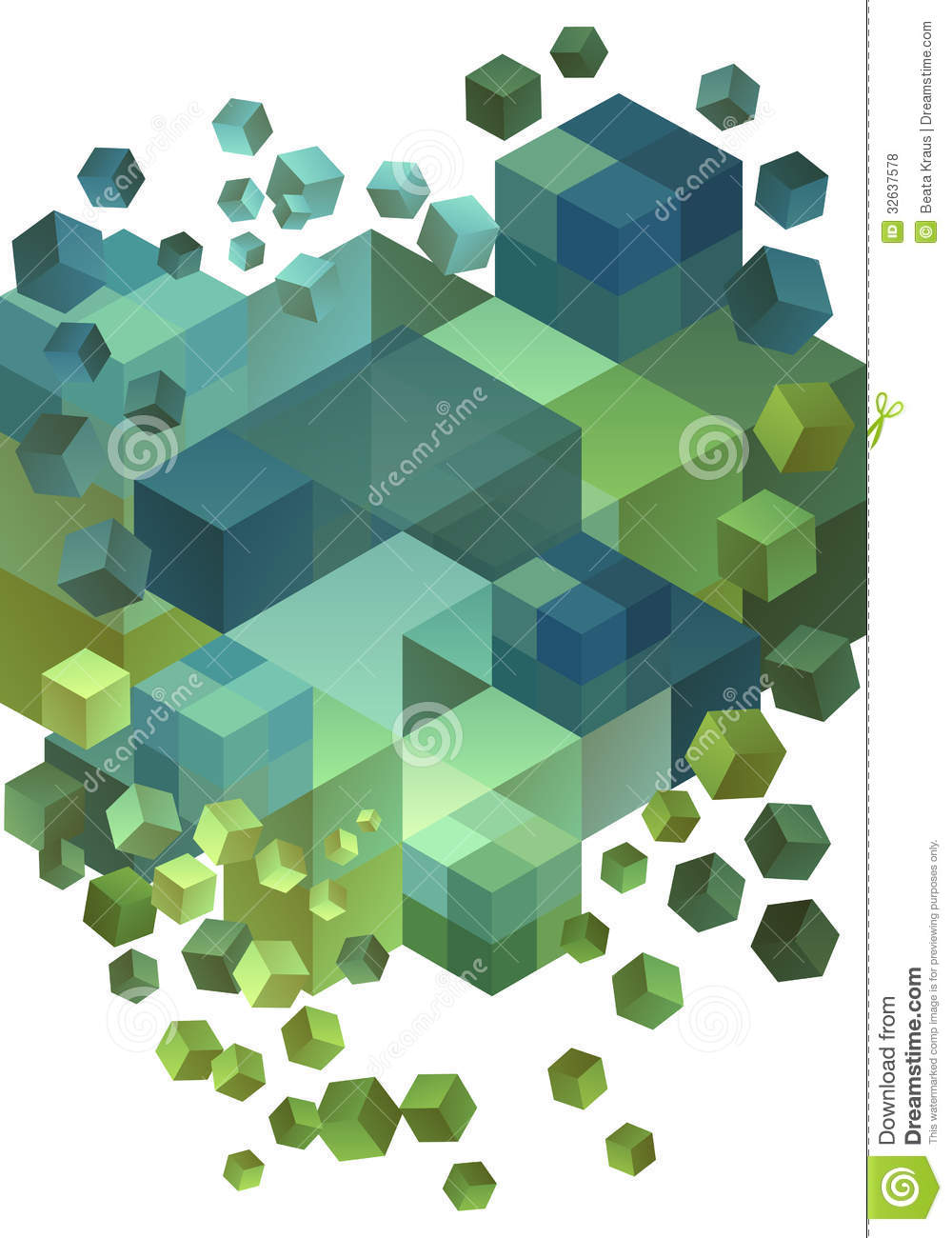 Abstract 3D Cubes, Vector Royalty Free Stock Photos - Image: 32637578