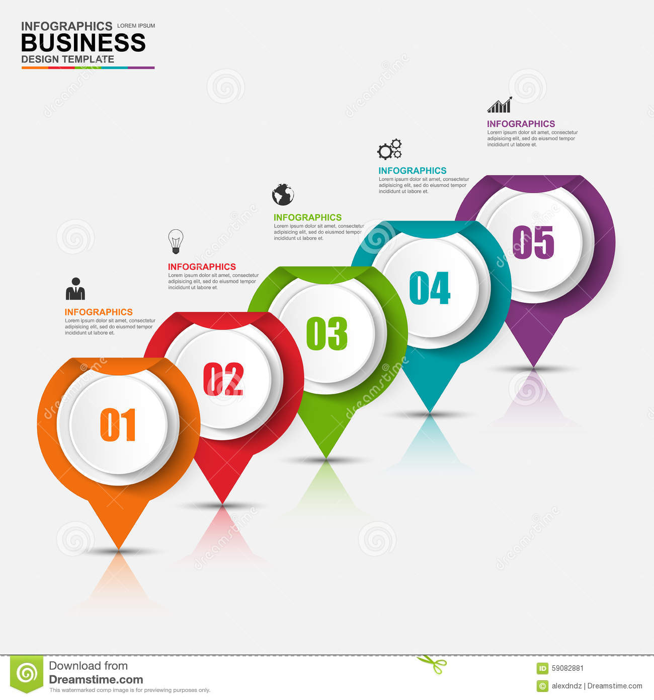 Abstract D Digital Business Infographic Stock Vector - Digital business plan template