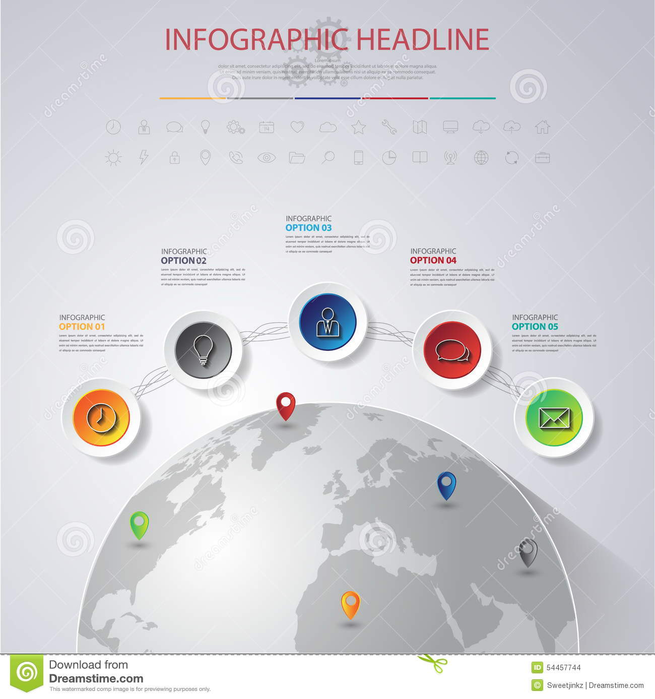 Abstract 3d digital illustration infographic with world mapn abstract 3d digital illustration infographic with world mapn gumiabroncs Images