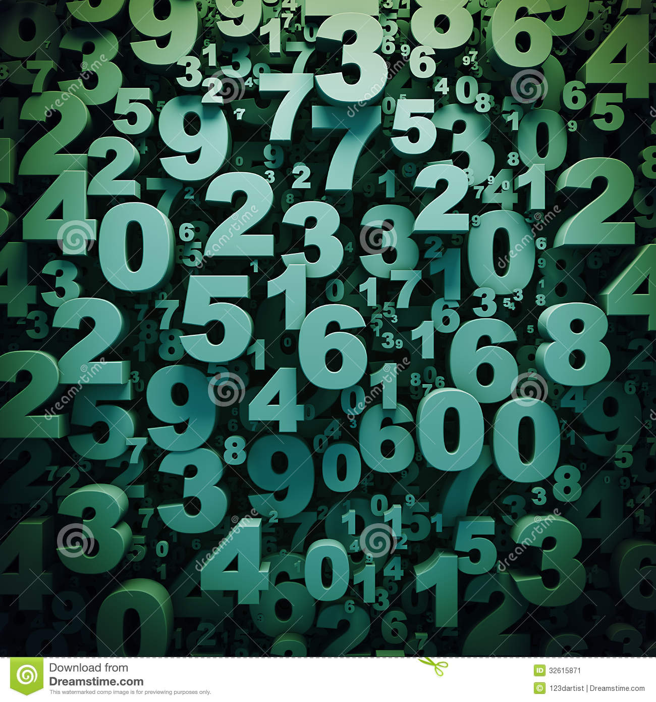 Abstract 3D Digits Background Stock Image - Image: 32615871