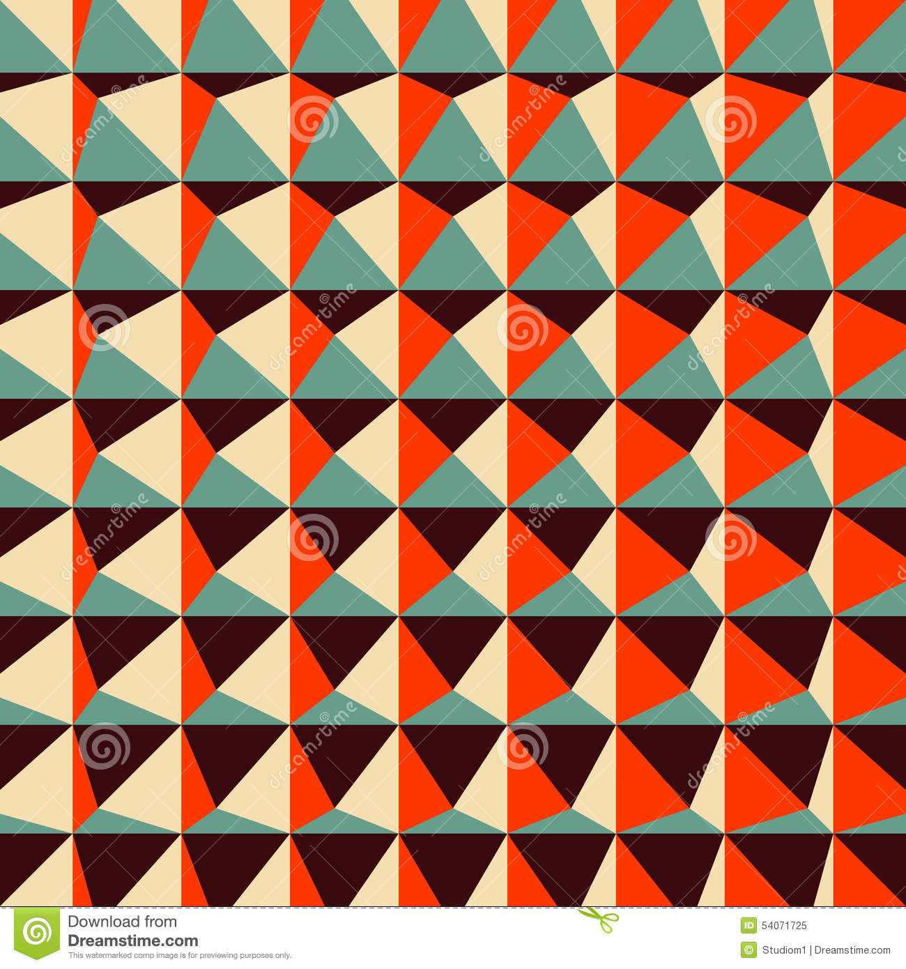 abstract 3d geometric pattern polygonal stock vector
